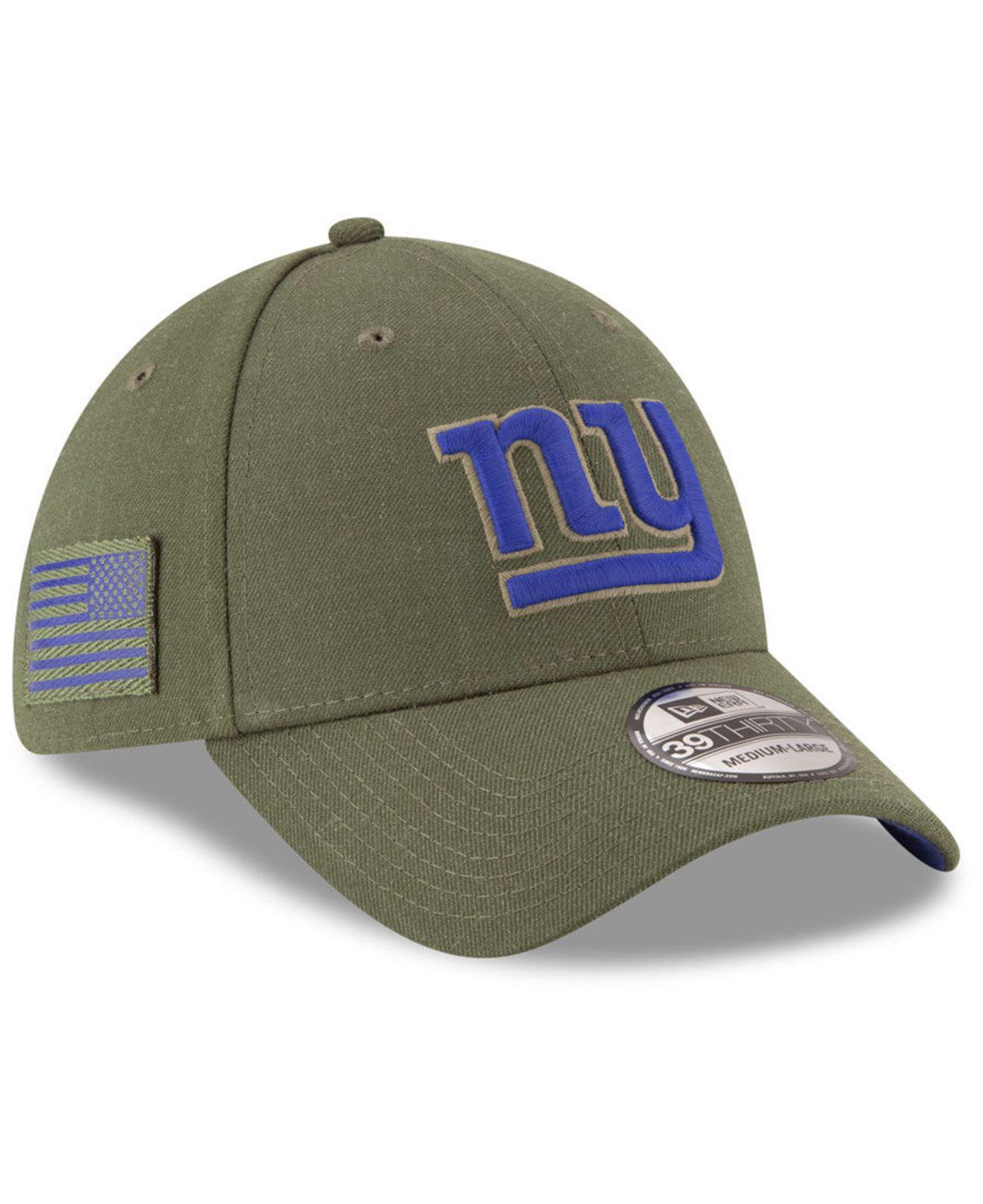 Lyst - Ktz New York Giants Salute To Service 39thirty Cap in Green ... a1f5278f8