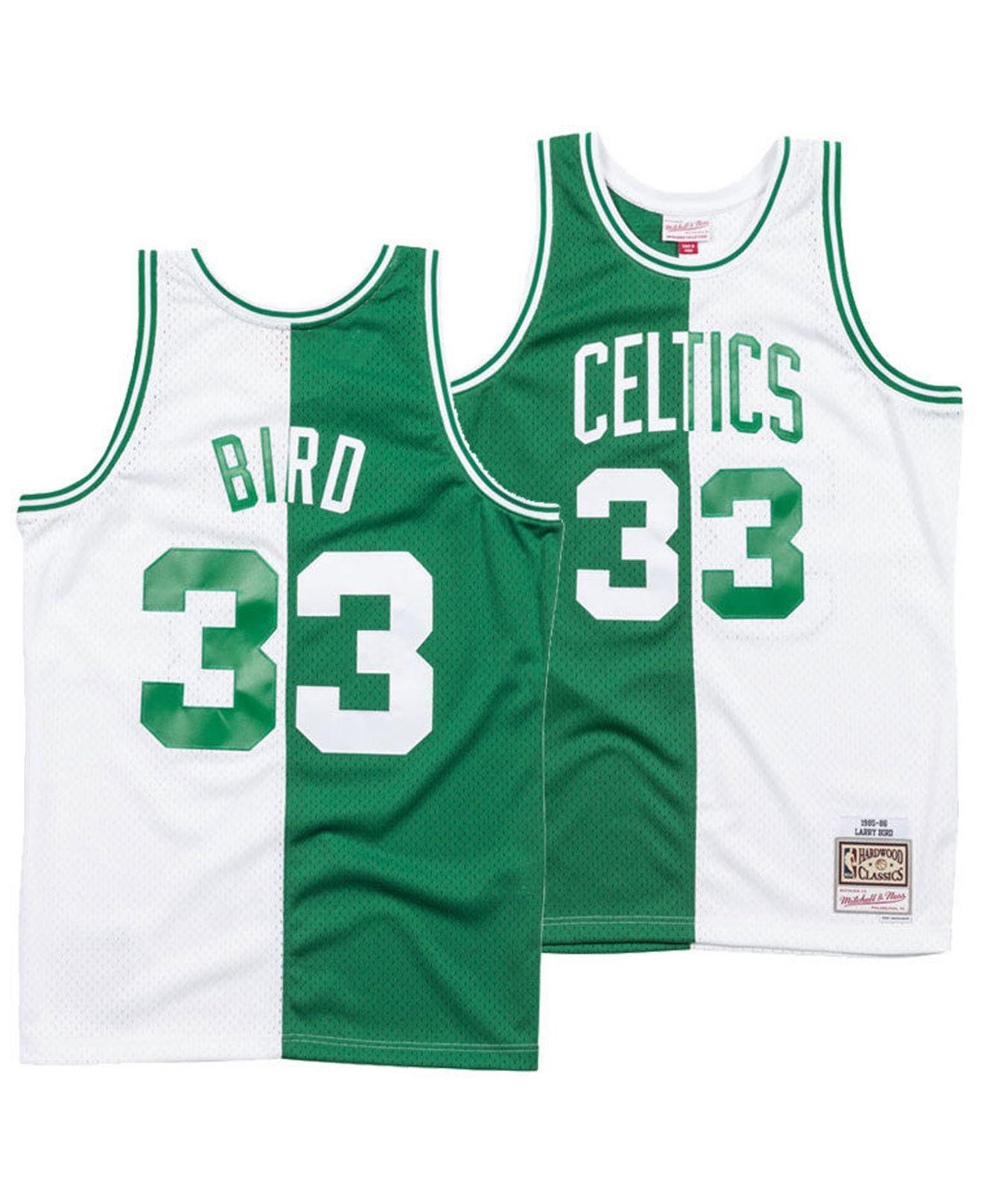 18c0802842e Mitchell & Ness - Green Larry Bird Boston Celtics Split Swingman Jersey for  Men - Lyst. View fullscreen