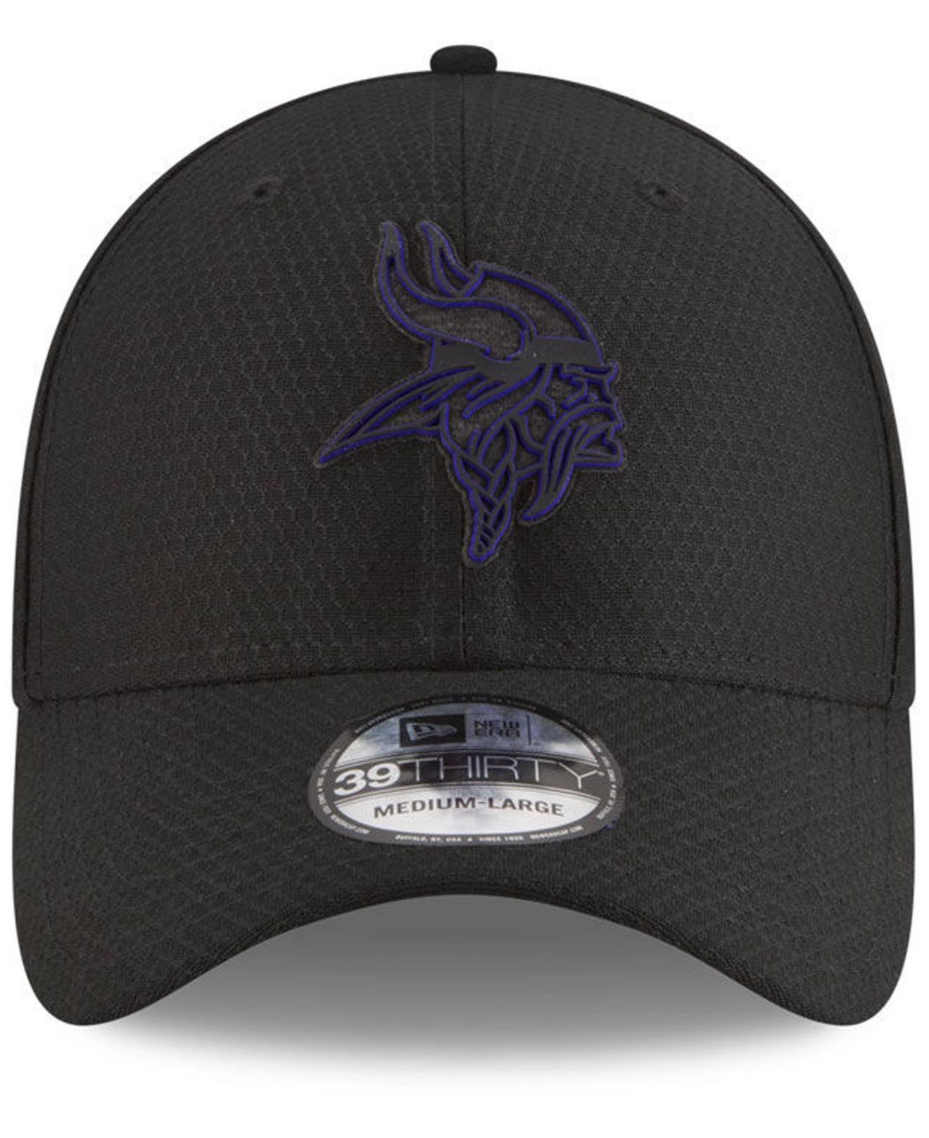 56528a900 Lyst - Ktz Minnesota Vikings Training 39thirty Stretch Fitted Cap 2018 in  Black for Men