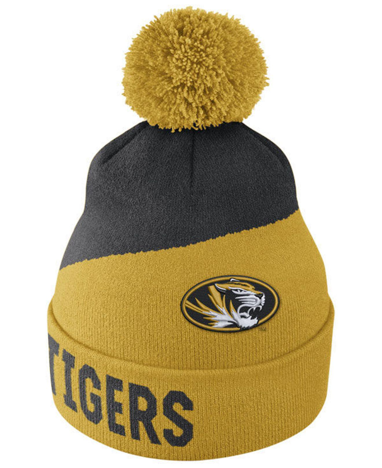 5a363956 ... order nike. mens metallic missouri tigers champ pom knit hat d2ef6 47a74