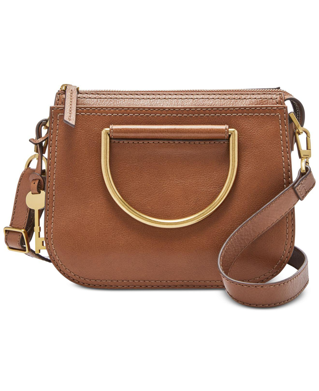 c80843c128 Lyst - Fossil Ryder Leather Top Handle Crossbody in Brown