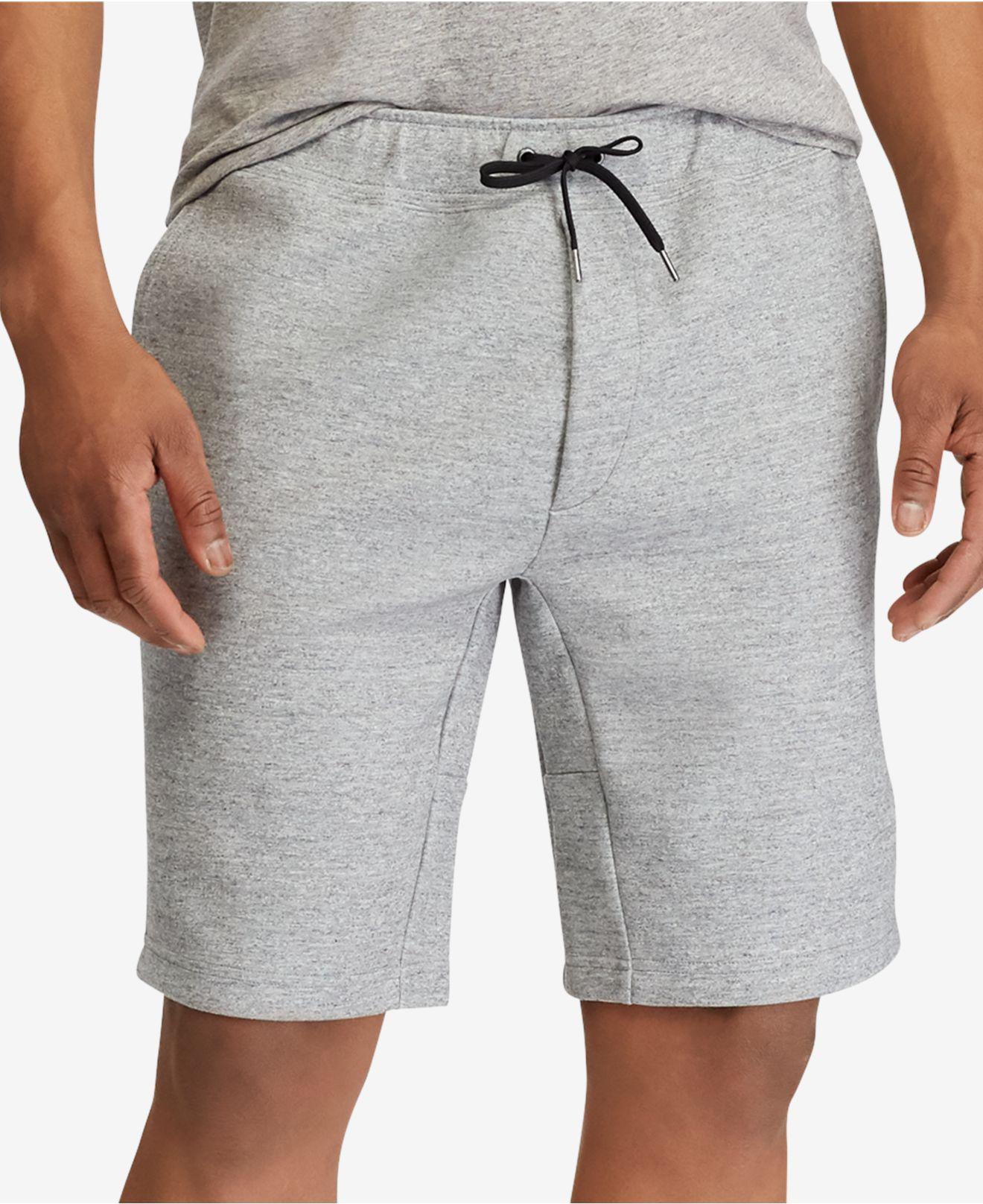 fe709522d Polo Ralph Lauren Double-knit Active Shorts in Gray for Men - Lyst