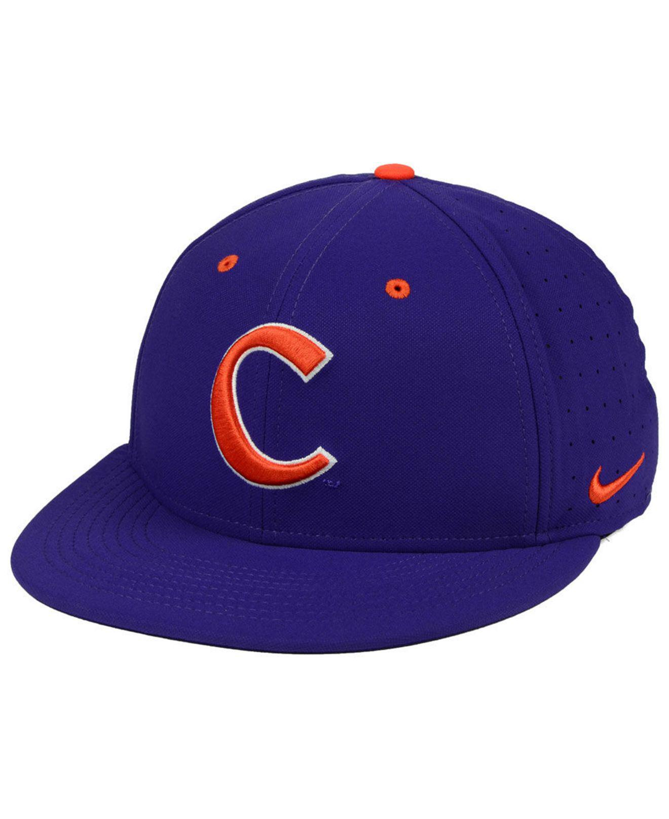 dfc9c01fdc5 Lyst - Nike Clemson Tigers Aerobill True Fitted Baseball Cap in ...