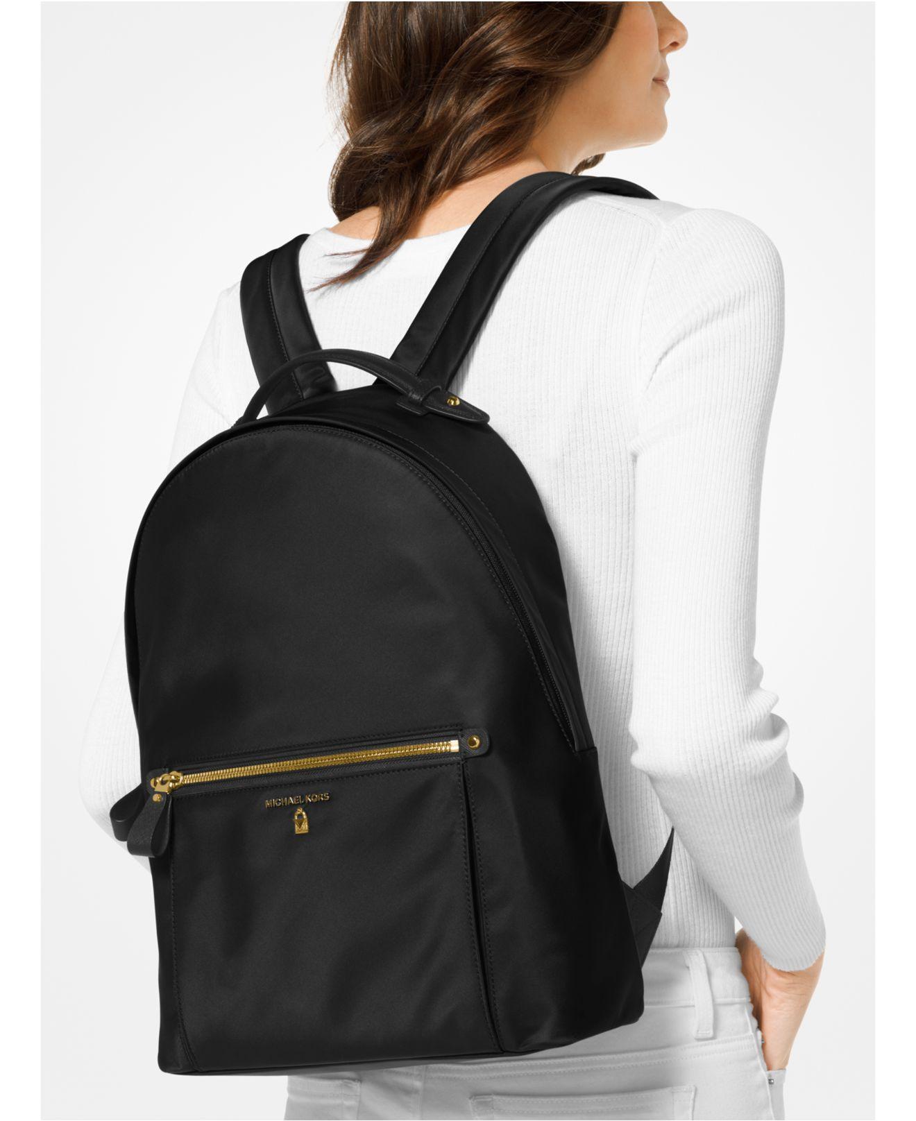 91f651000180 MICHAEL Michael Kors Kelsey Nylon Backpack in Black - Save 6% - Lyst