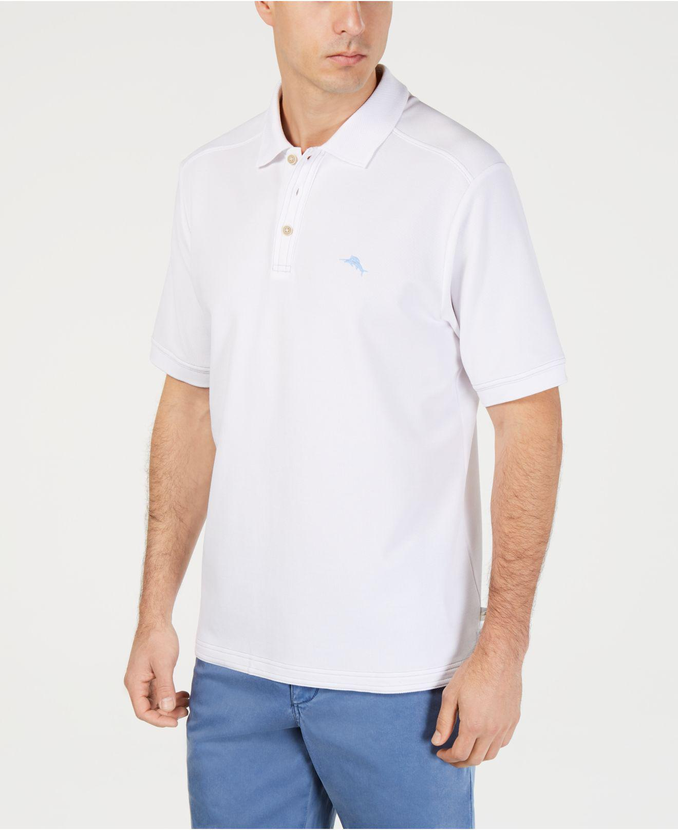 ae7c1be4cedcdd Lyst - Tommy Bahama Men s Emfielder 2.0 Polo in White for Men - Save 19%
