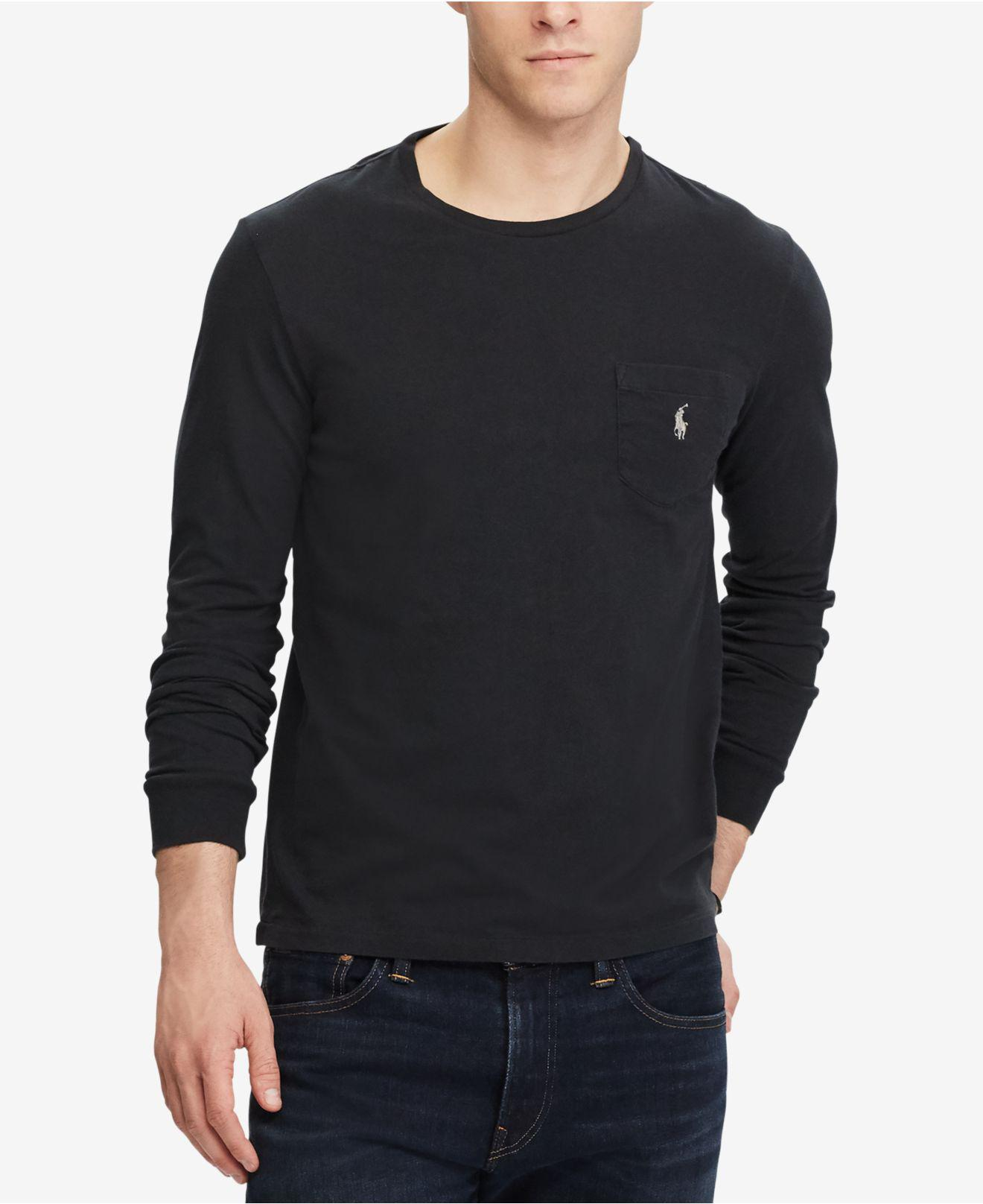 d3c52f319 ... top quality lyst polo ralph lauren mens custom slim fit long sleeve cotton  t b5ceb 6cb66
