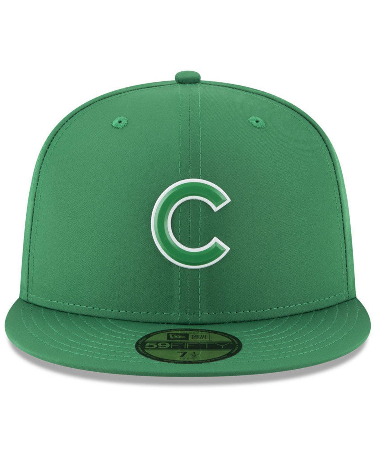 a9f4f07036e Lyst - Ktz Chicago Cubs St. Patty s Day Pro Light 59fifty Fitted Cap in  Green for Men