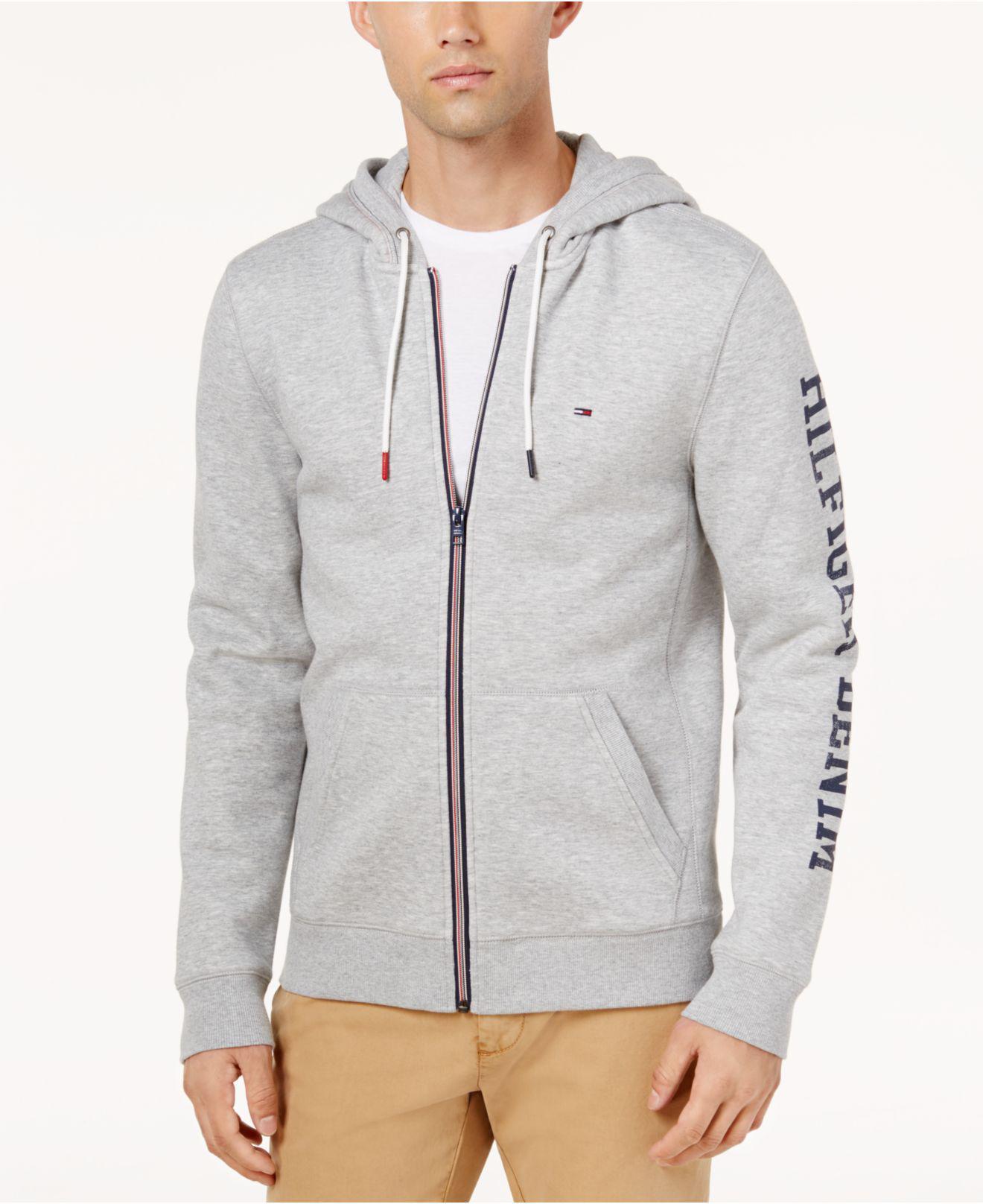 Tommy Hilfiger Mens Full Zip Hoodie Sweatshirt