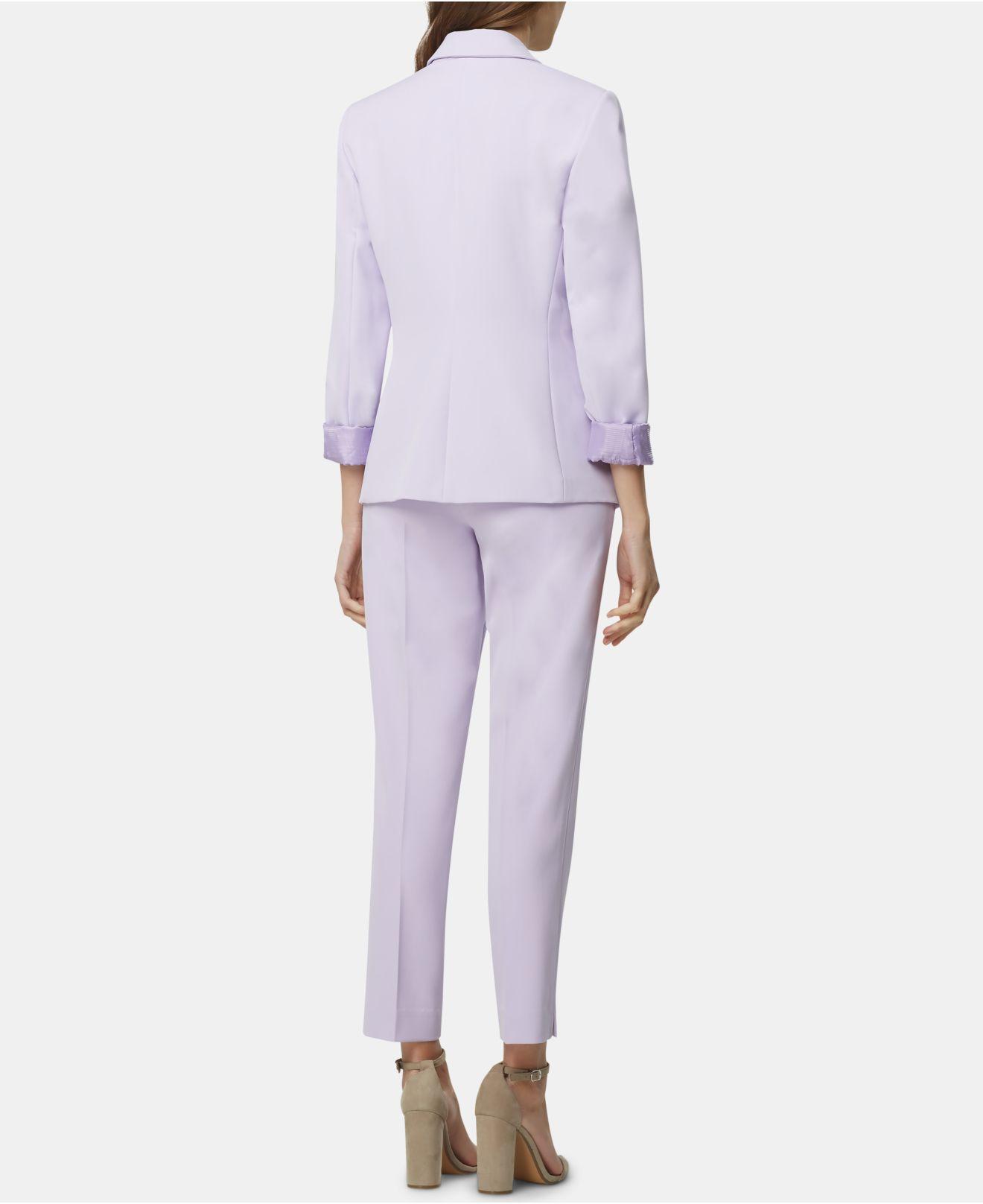 b31e1709926 Lyst - Tahari Notch-lapel Cuffed-sleeve Blazer in Purple