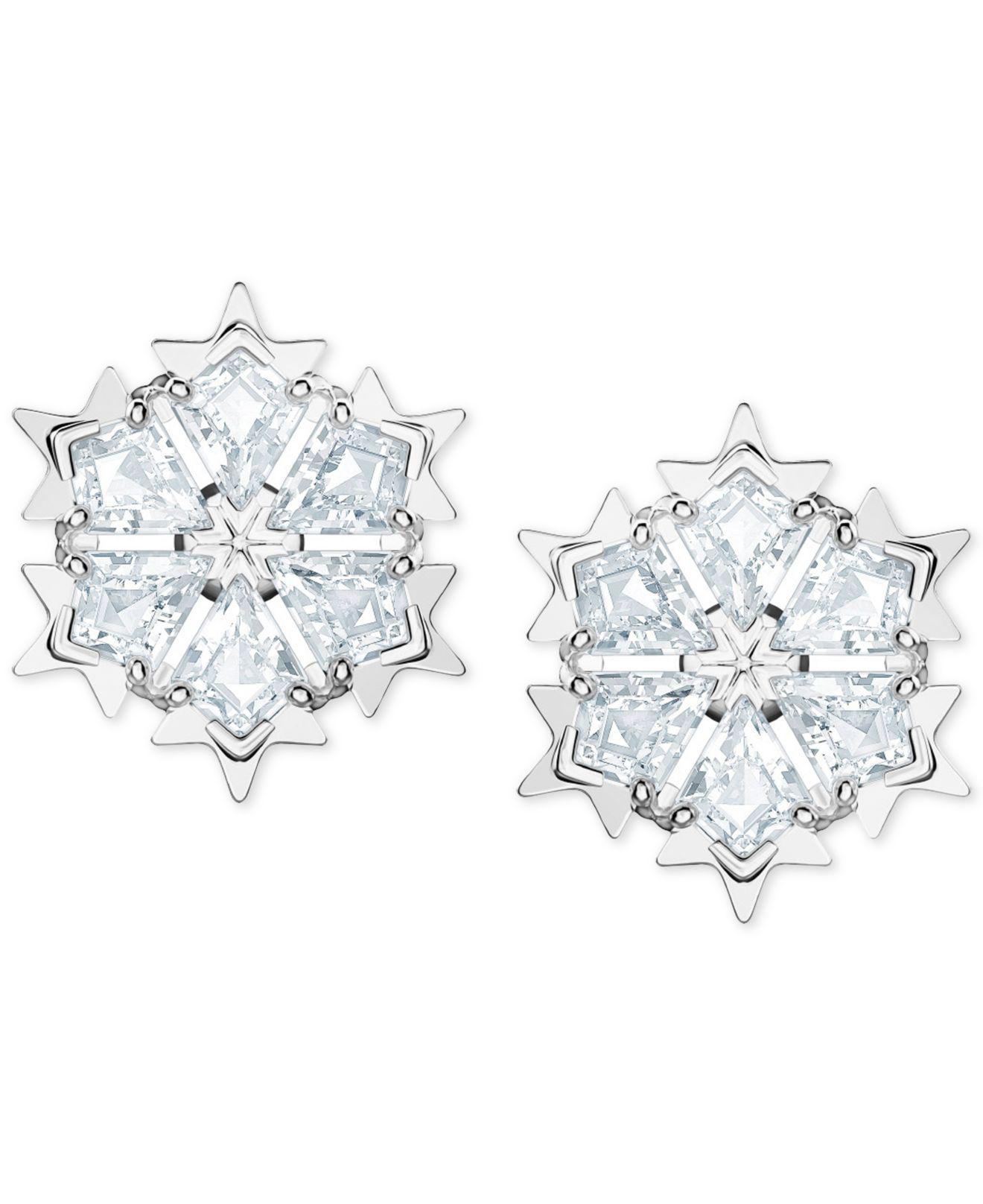 43ce067e5 Lyst - Swarovski Silver-tone Crystal Stud Earrings in White
