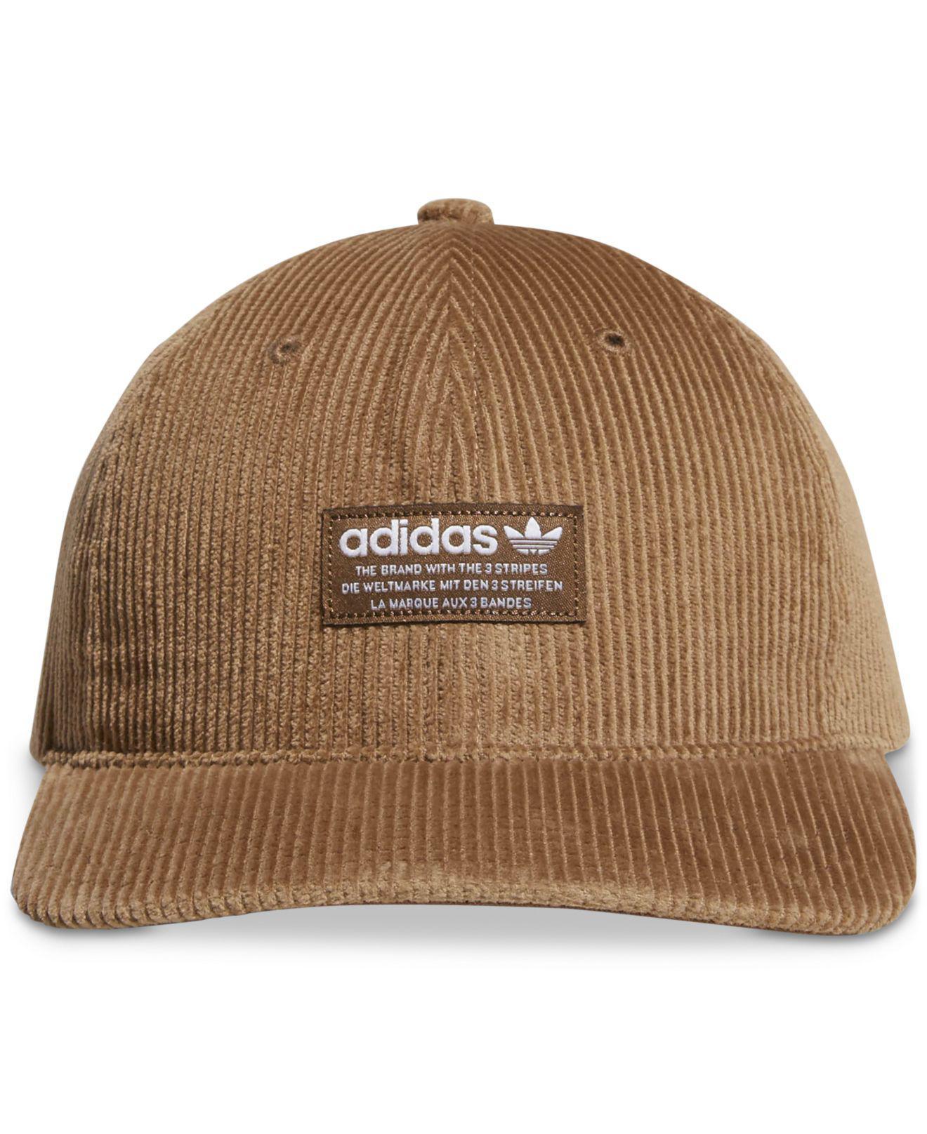 Adidas Originals Corduroy Logo Hat in Brown for Men - Lyst 7d608d97162