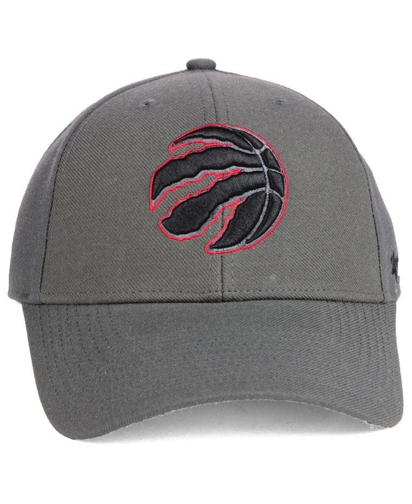 2a531653045 clearance lyst 47 brand toronto raptors charcoal pop mvp cap in gray for  men 1dbd0 45281