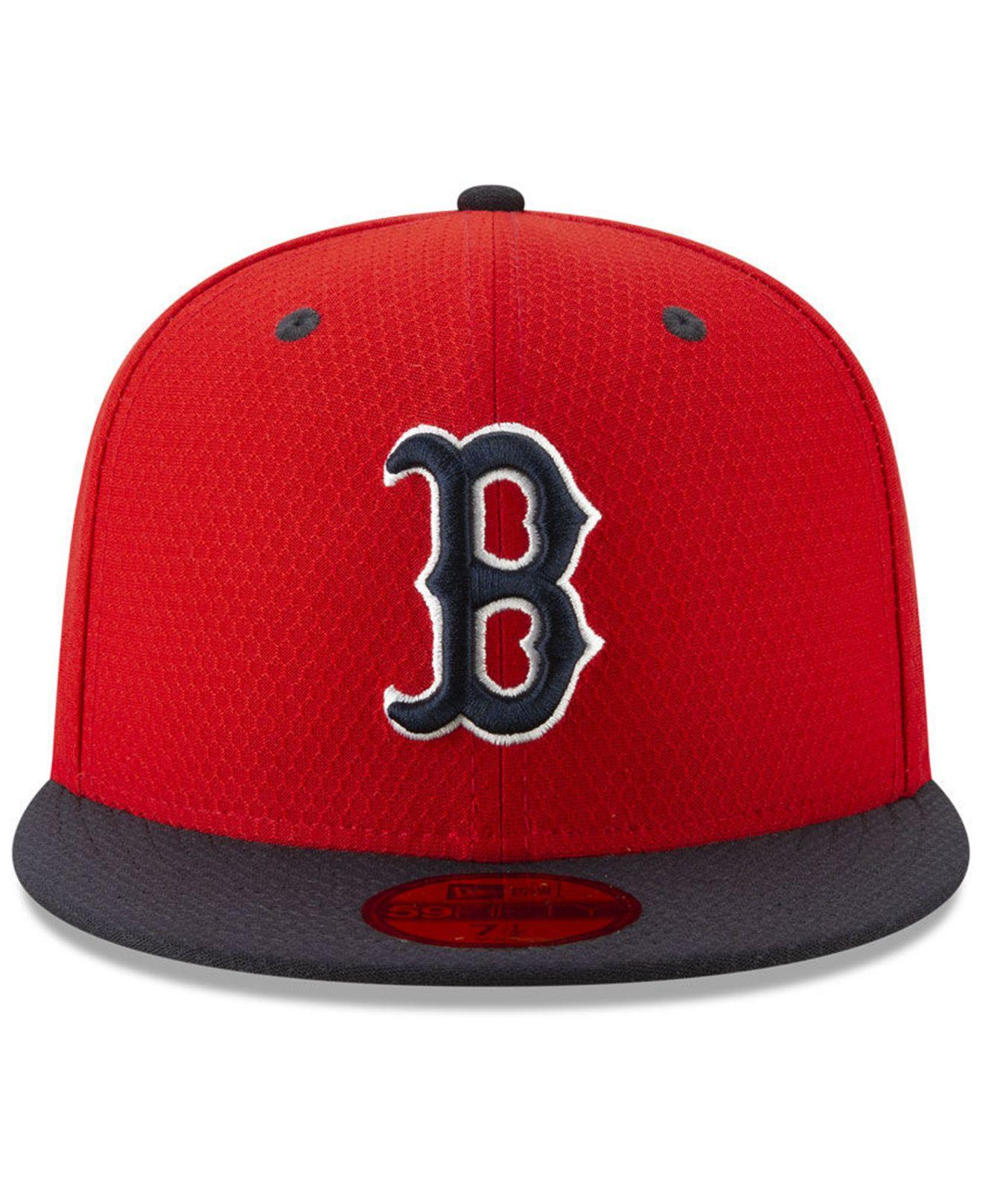 check out 506d4 65a2e KTZ - Boston Red Sox Batting Practice 59fifty-fitted Cap for Men - Lyst.  View fullscreen