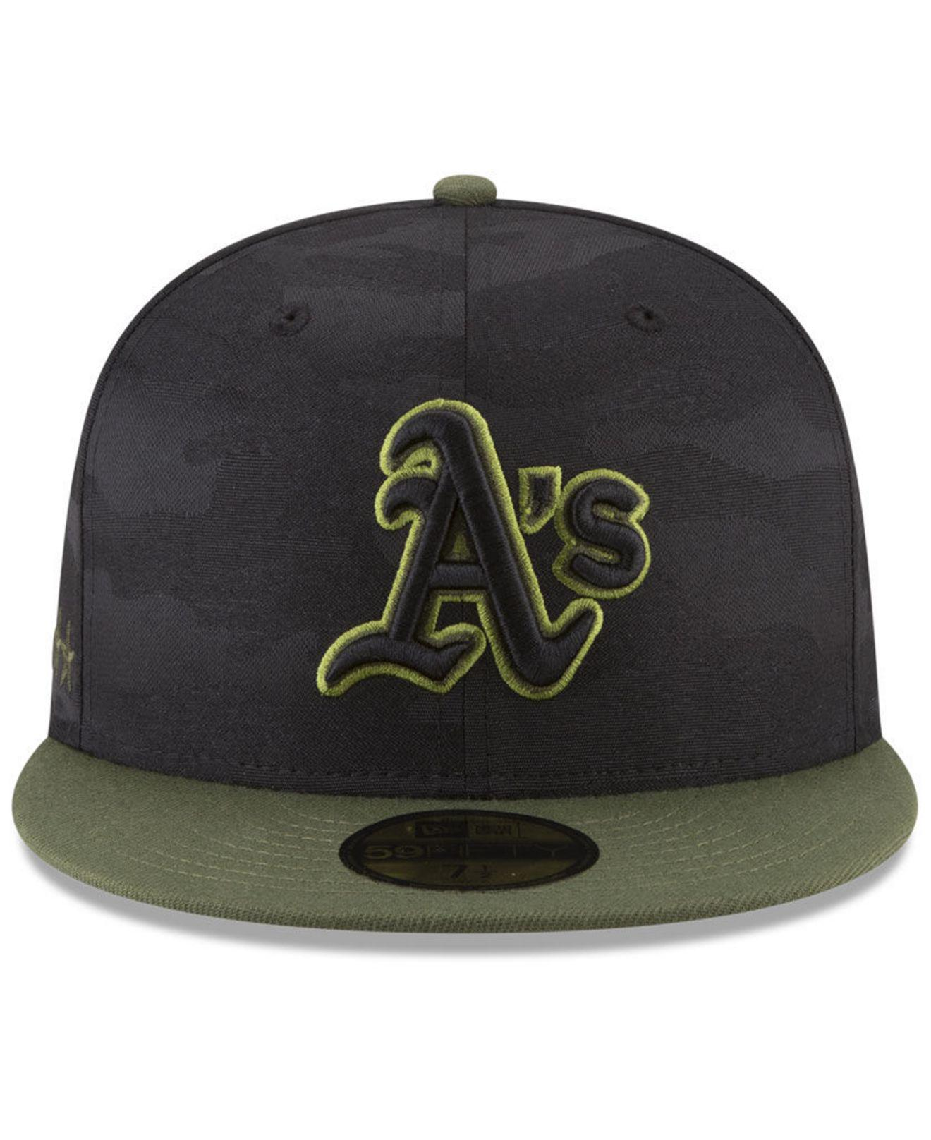 newest b30f8 1feb4 Lyst - KTZ Oakland Athletics Memorial Day 59fifty Fitted Cap in Black for  Men