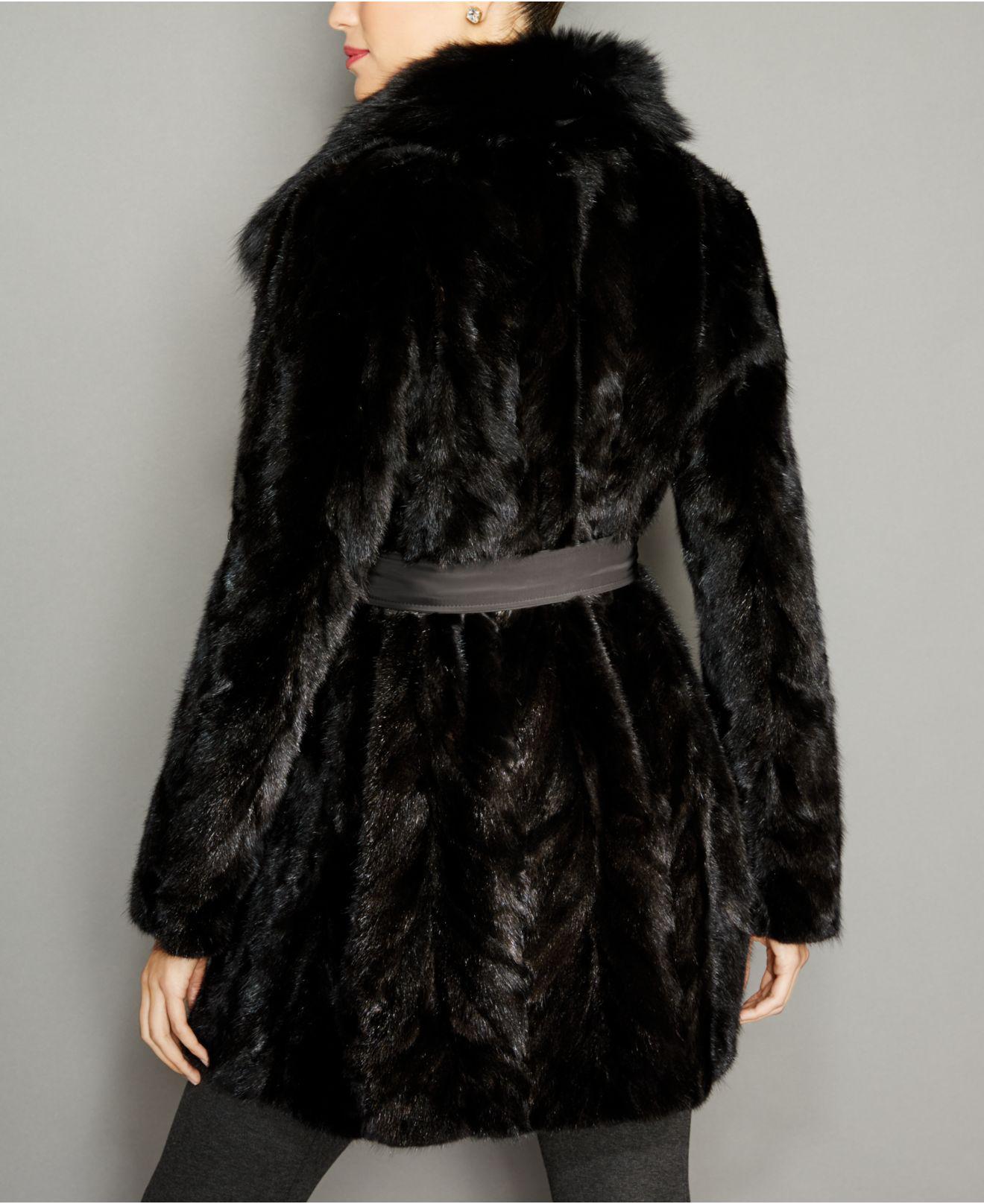 d2a69de4b20 Lyst - The Fur Vault Fox-fur-trim Mink Fur Reversible Coat in Black