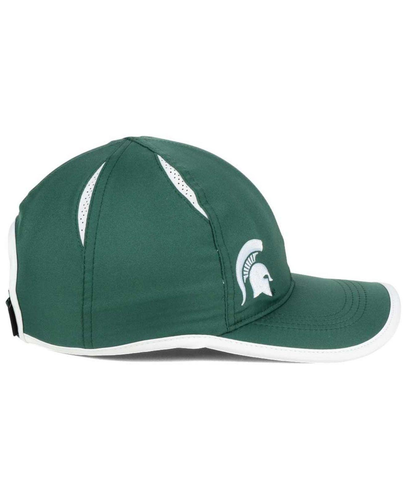 lowest price d04ea b6065 ... michigan state spartans echo cuffed knit hat 6be6a c942c  italy lyst  nike big swoosh adjustable cap in green for men 7f08b 28b17