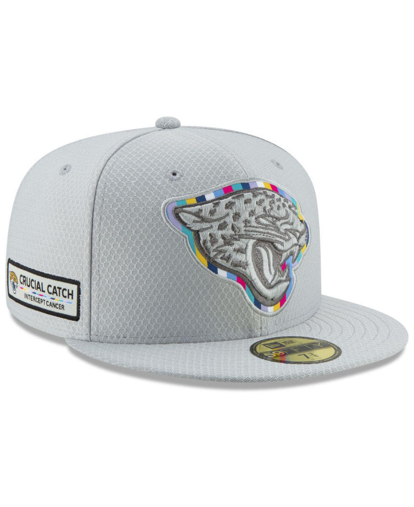 KTZ - Gray Jacksonville Jaguars Crucial Catch 59fifty Fitted Cap for Men -  Lyst. View fullscreen 2f5aa9138