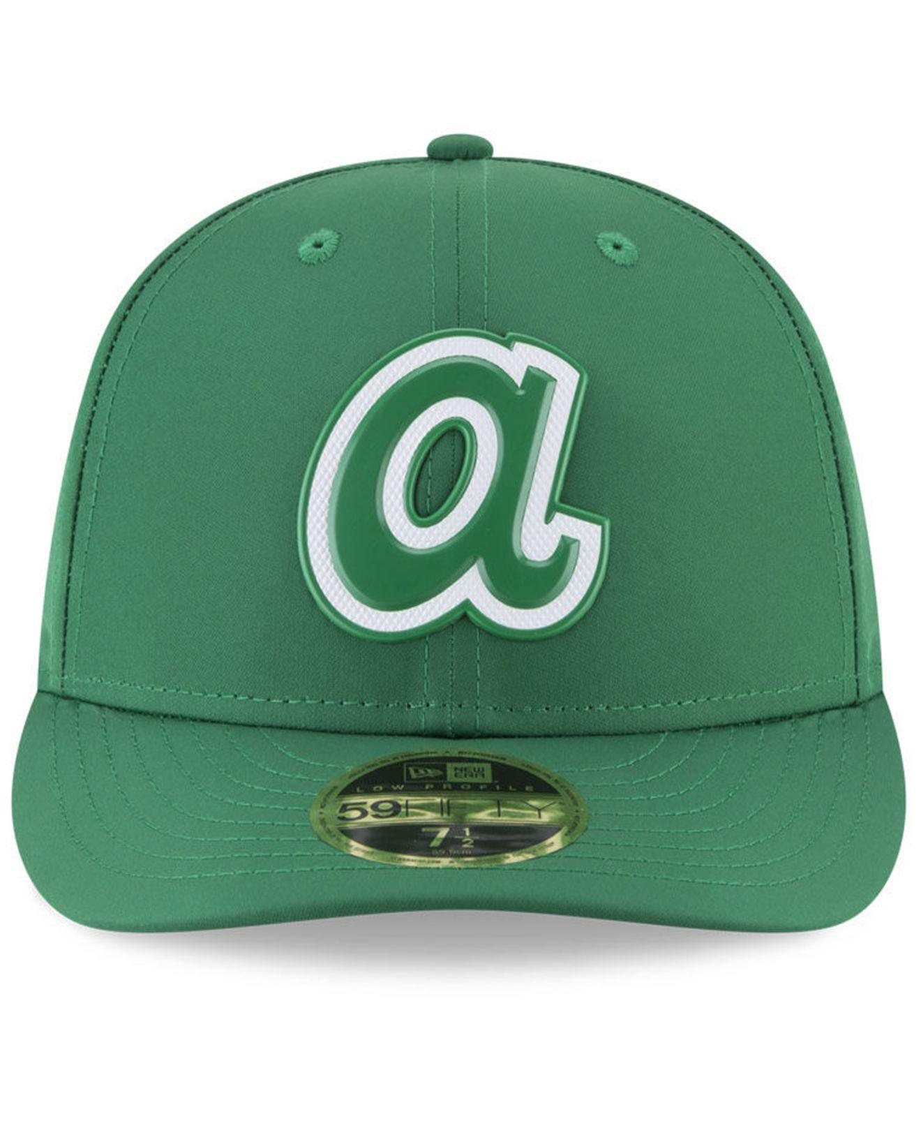 buy popular 5ddb5 a25b4 ... new era navy fan retro low profile 59fifty fitted hat d4b1d 6d703   italy lyst ktz atlanta braves st. pattys day pro light low crown 59fifty  fitted cap