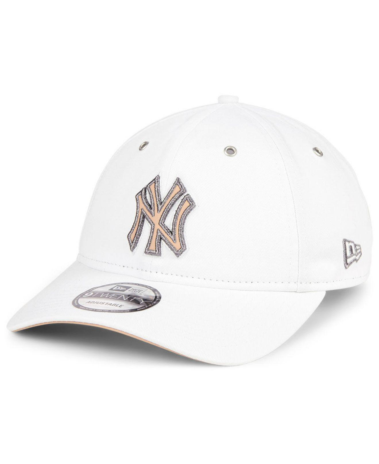 4d76cd16b0146 Lyst - KTZ New York Yankees Metallic Pastel 9twenty Cap in White