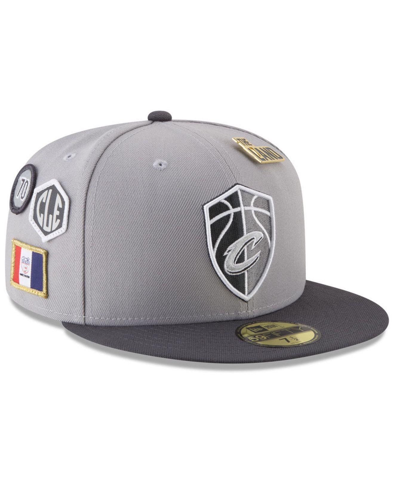 timeless design 59f79 a2843 KTZ. Men s Metallic Cleveland Cavaliers City On-court 59fifty Fitted Cap