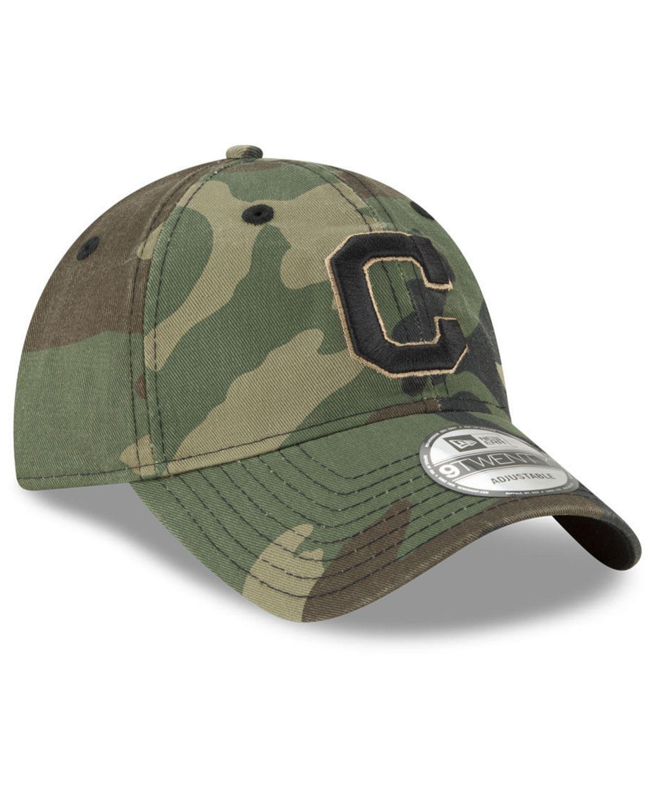 hot sale online 0ce3d 66e45 ... field replica 9twenty cap a9bb9 a627d  top quality cleveland indians  camo core classic 9twenty cap for men lyst. view fullscreen 134fc