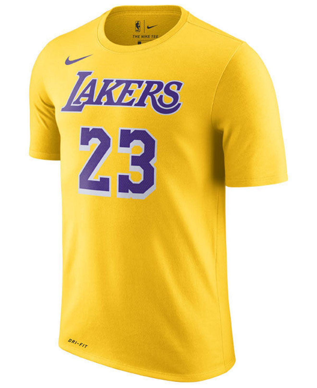 c71f5c4f Nike - Yellow Lebron James Los Angeles Lakers Icon Player T-shirt for Men  -. View fullscreen