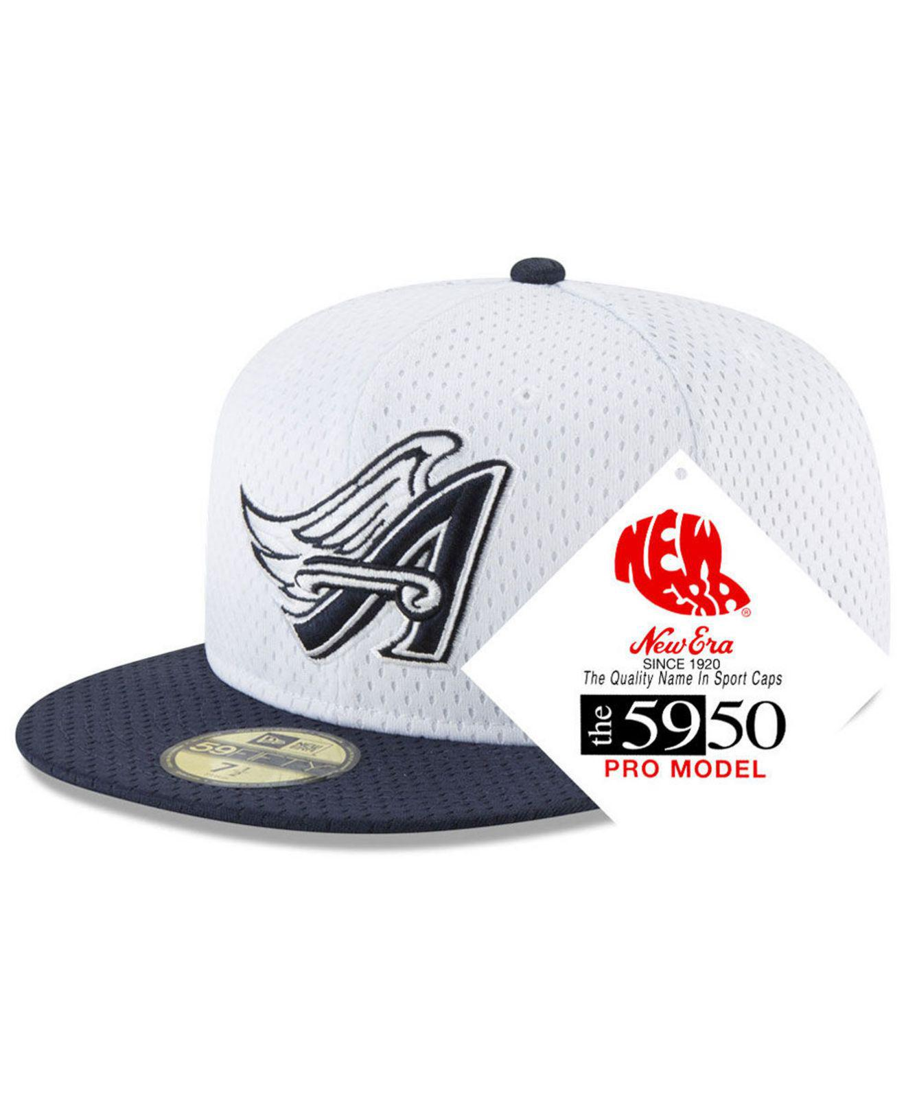 detailed look af57a 96a57 KTZ Los Angeles Angels Retro Classic Batting Practice 59fifty Fitted ...