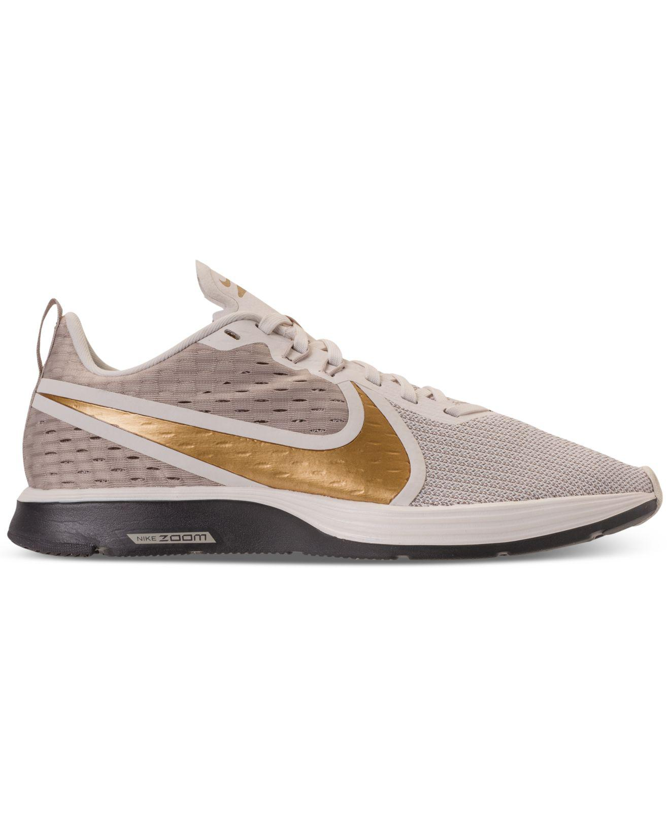 f40341269bb292 Lyst - Nike Zoom Strike 2 Running Sneakers From Finish Line in Metallic