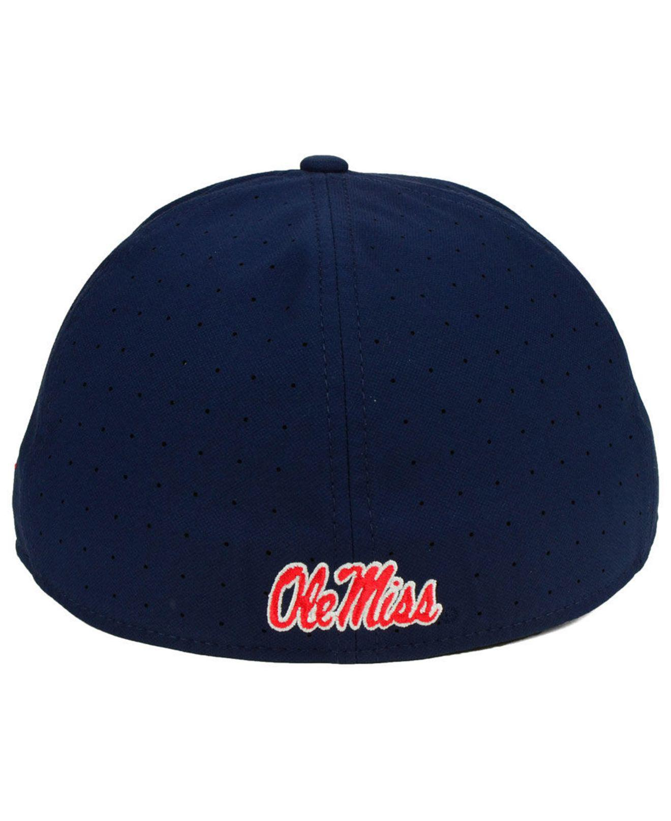 bc790da50d68c ... trucker adjustable snapback hat 64cb0 eb747  coupon for nike blue ole  miss rebels aerobill true fitted baseball cap for men lyst.