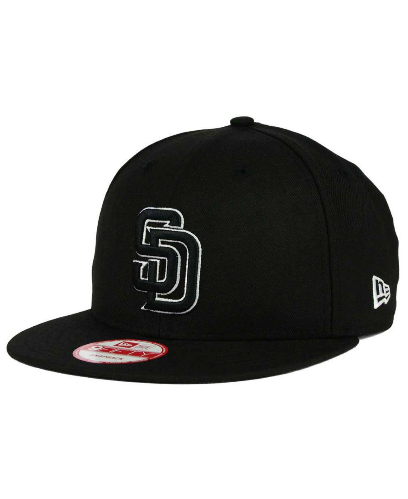 dac5667d9ba14 ... new era mlb snap dub 9fifty snapback cap gold sale ktz. mens black san  diego padres b dub 9fifty snapback cap e056a 87b69 ...