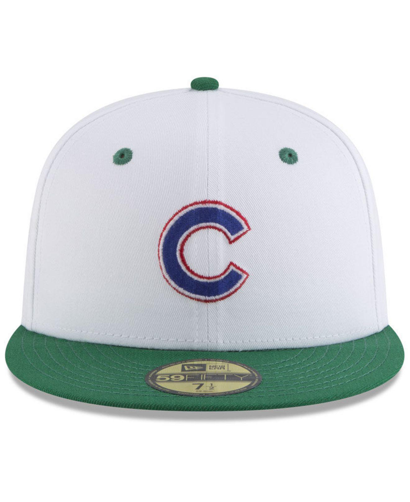 590b2276098 Lyst - KTZ Chicago Cubs Retro Diamond 59fifty Fitted Cap in White for Men