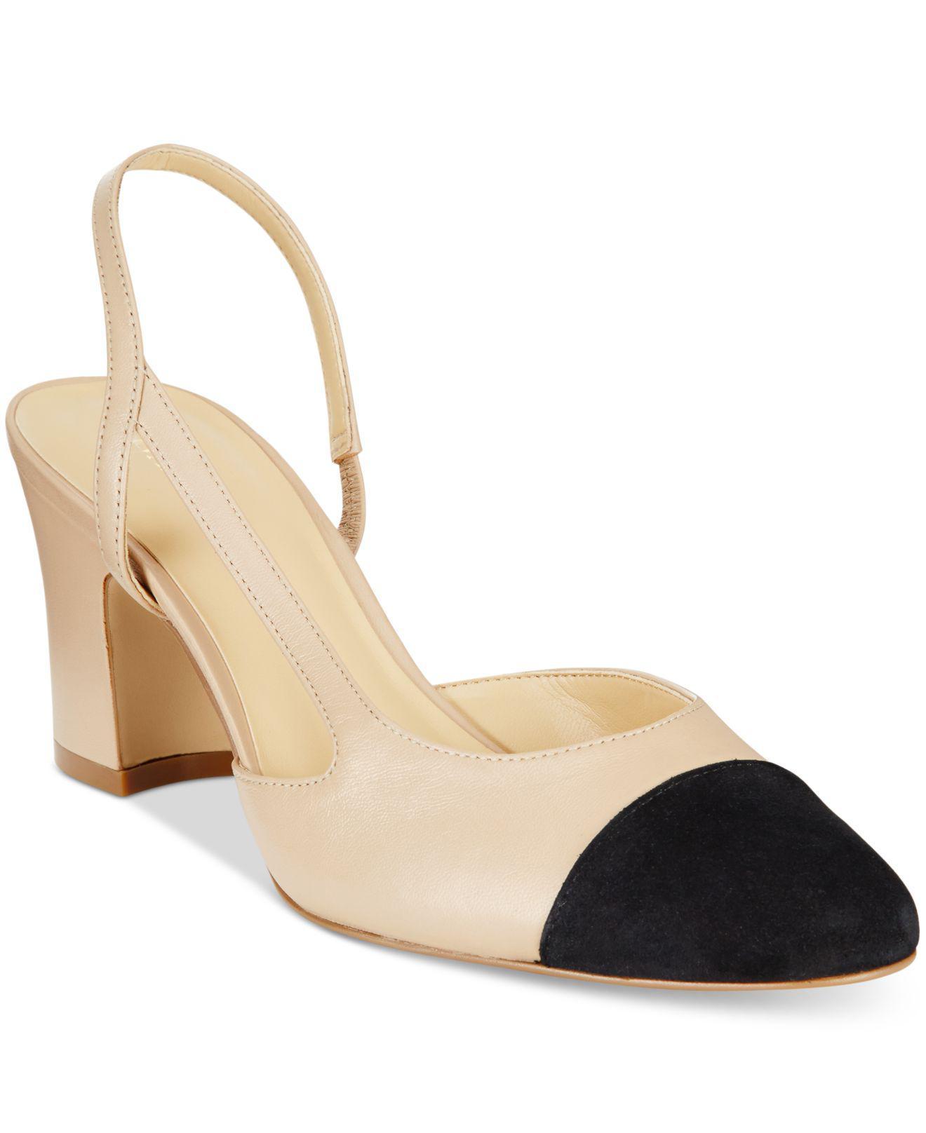 Ivanka Trump. Women's Natural Liah Slingback Block-heel Pumps