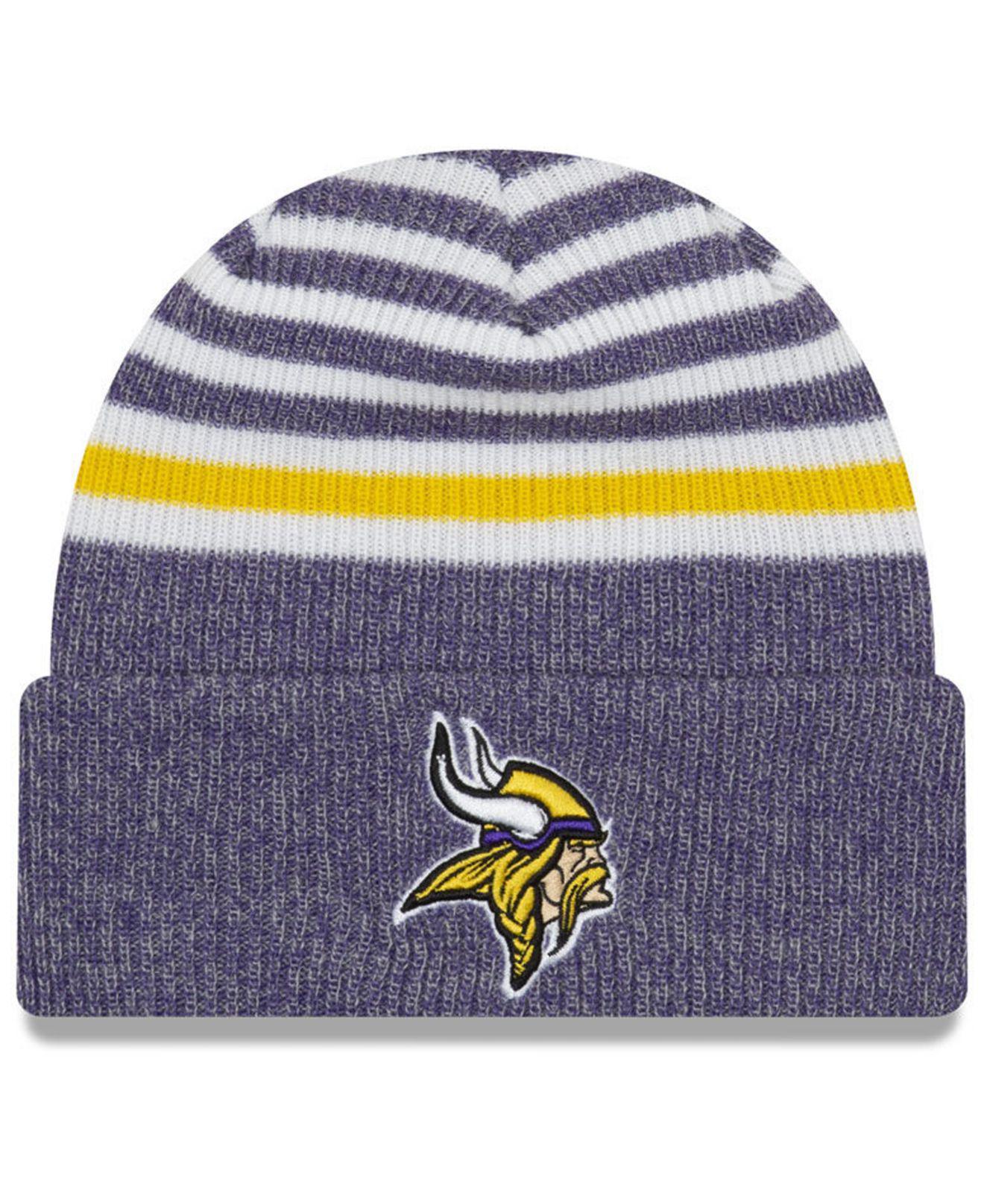Lyst - Ktz Minnesota Vikings Striped Cuff Knit Hat in Purple for Men 8a42abda2