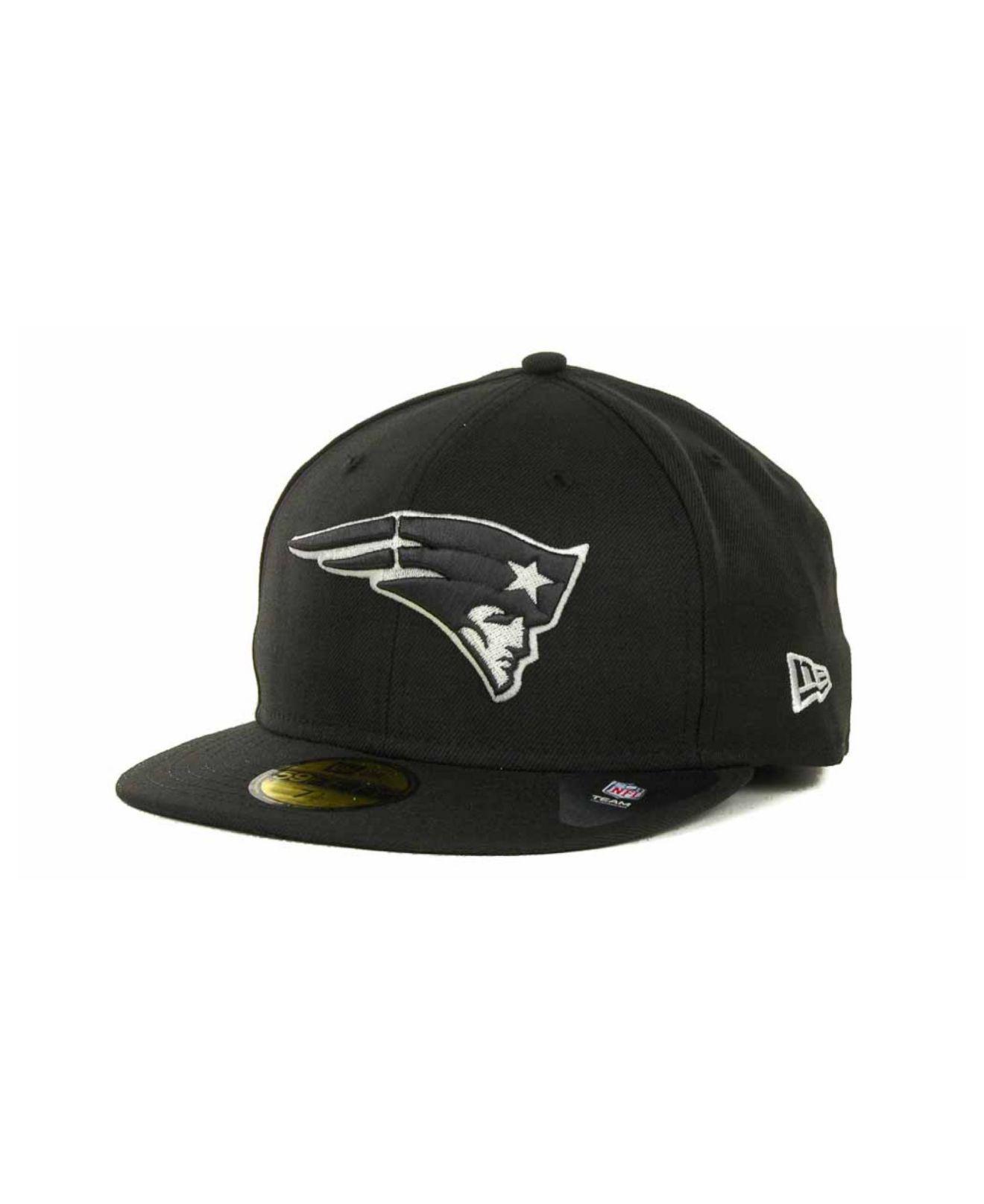 Lyst - Ktz New England Patriots 59fifty Cap in Black for Men 0441e9150