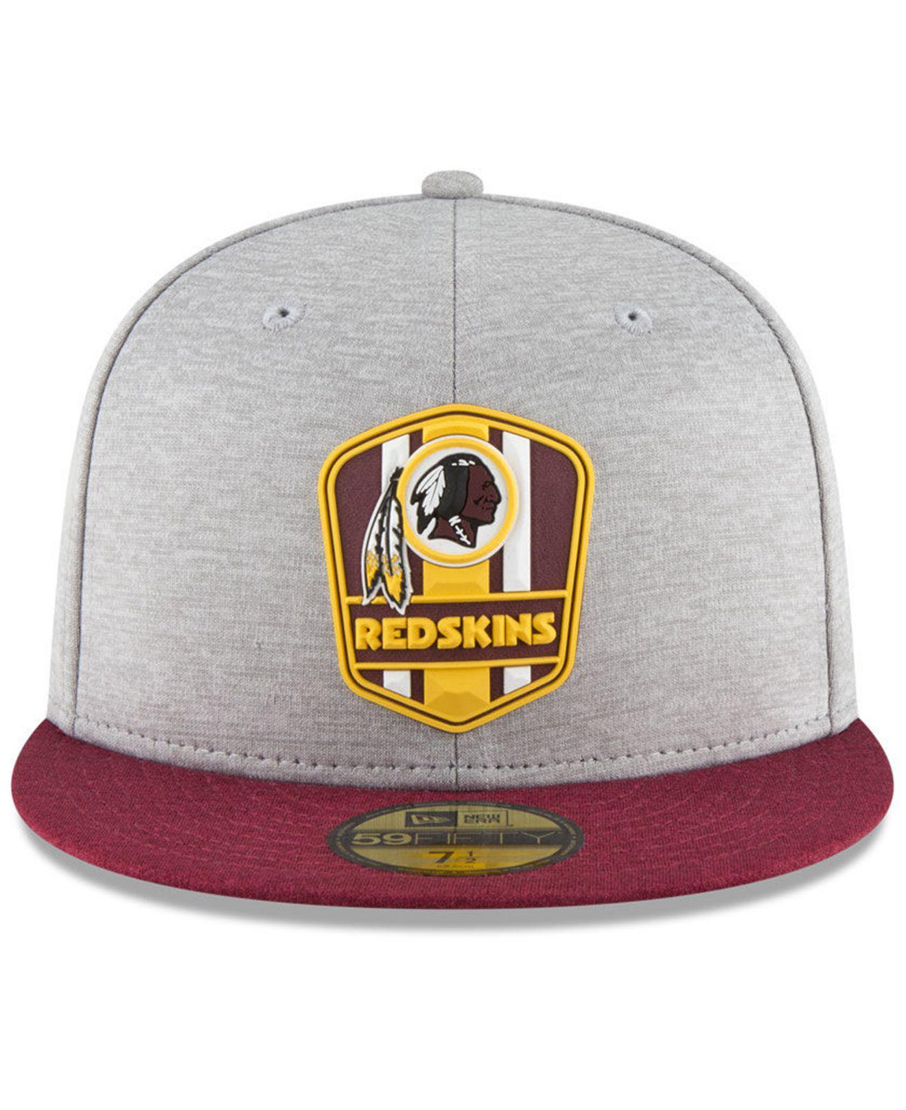 online retailer 69914 2b538 Lyst - KTZ Washington Redskins On Field Sideline Road 59fifty Fitted Cap in  Gray for Men
