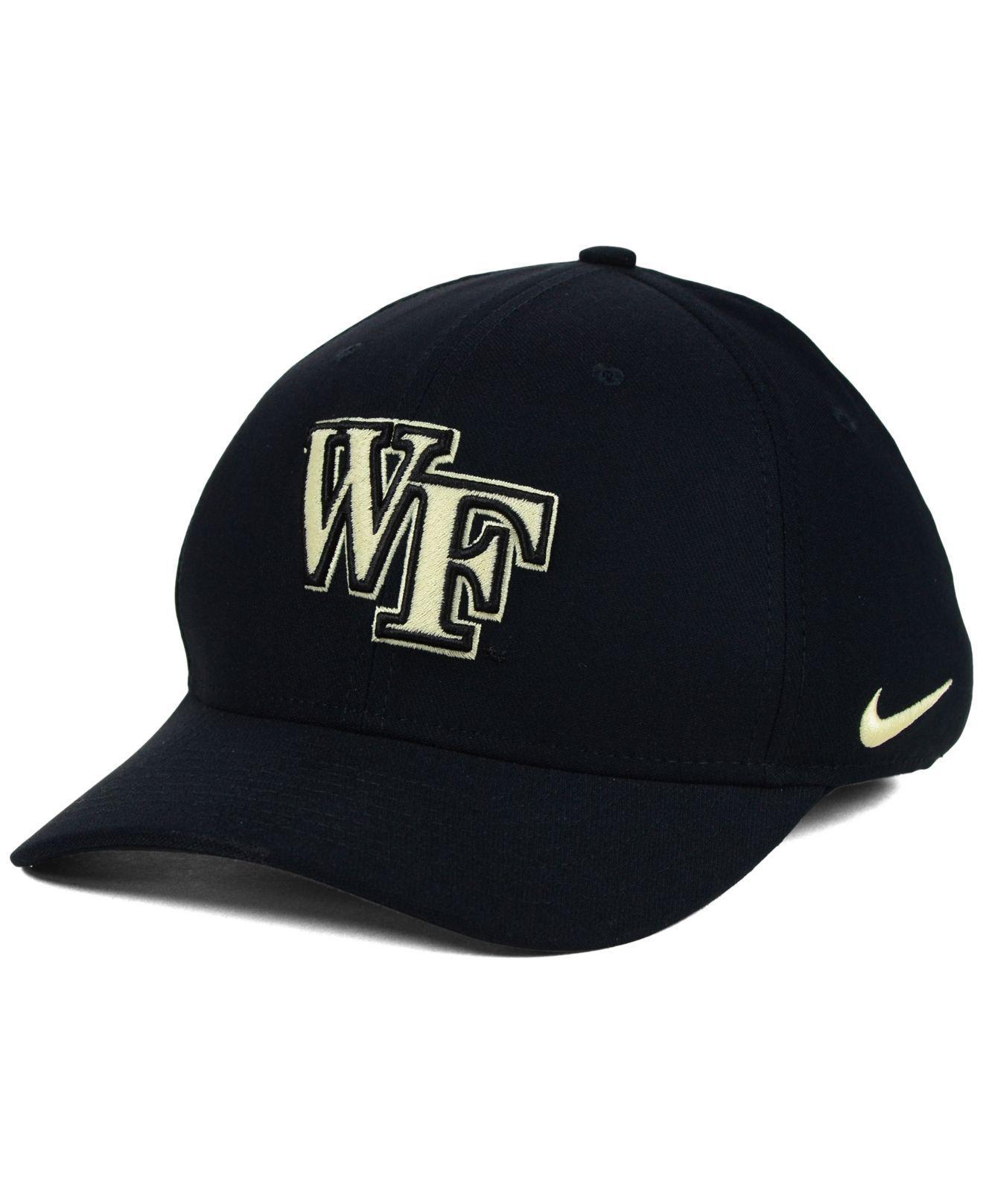 42b622c6f5a Nike - Black Wake Forest Demon Deacons Classic Swoosh Cap for Men - Lyst.  View fullscreen
