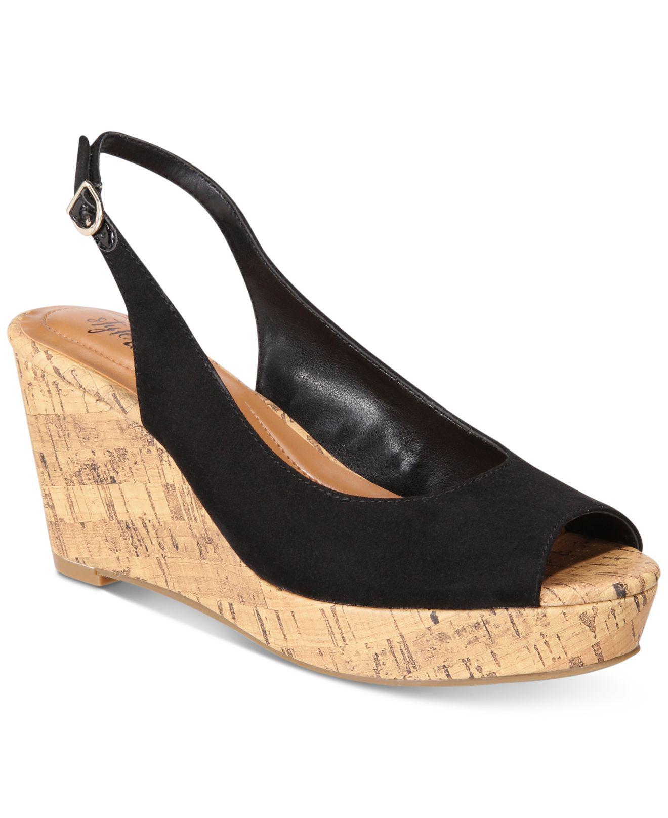 ed83bc69214 Style   Co. Women s Black Sondire Platform Wedge ...