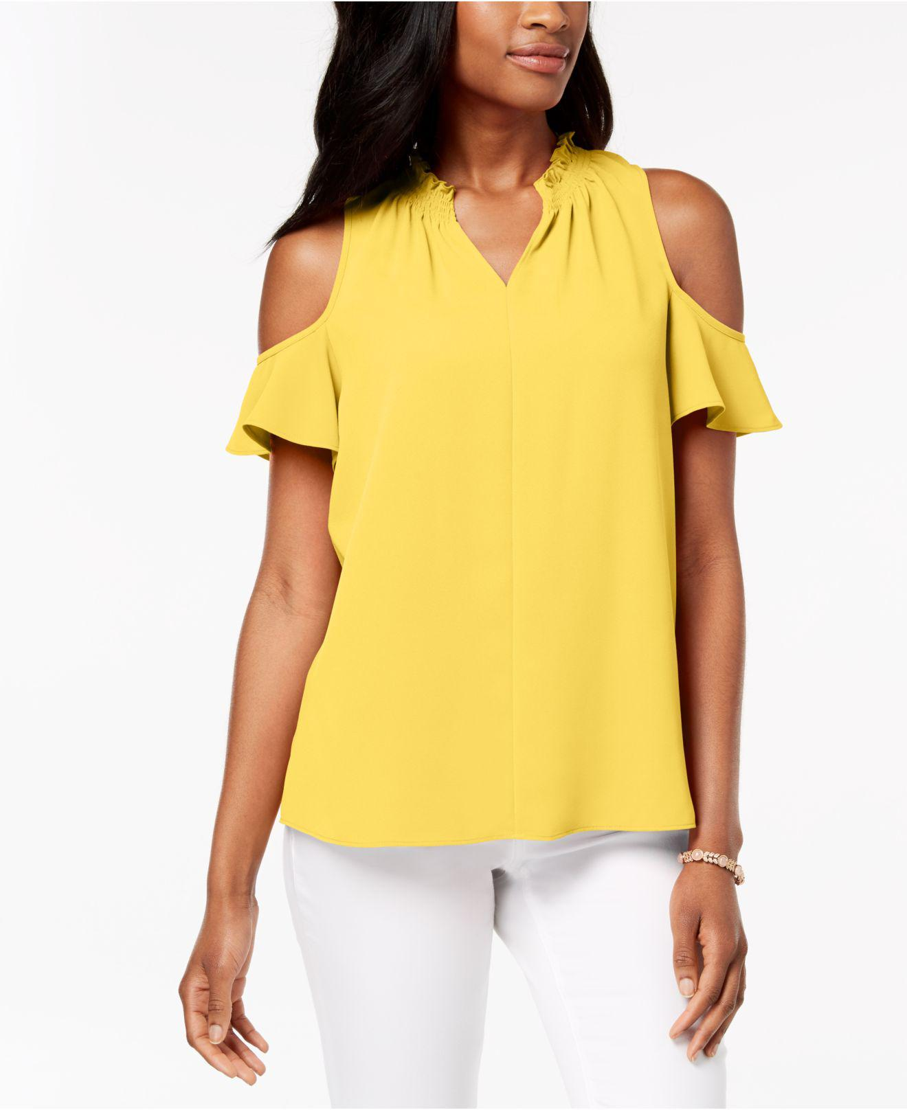 Lyst Charter Club Seamed Cold Shoulder Top Created For Macy S In