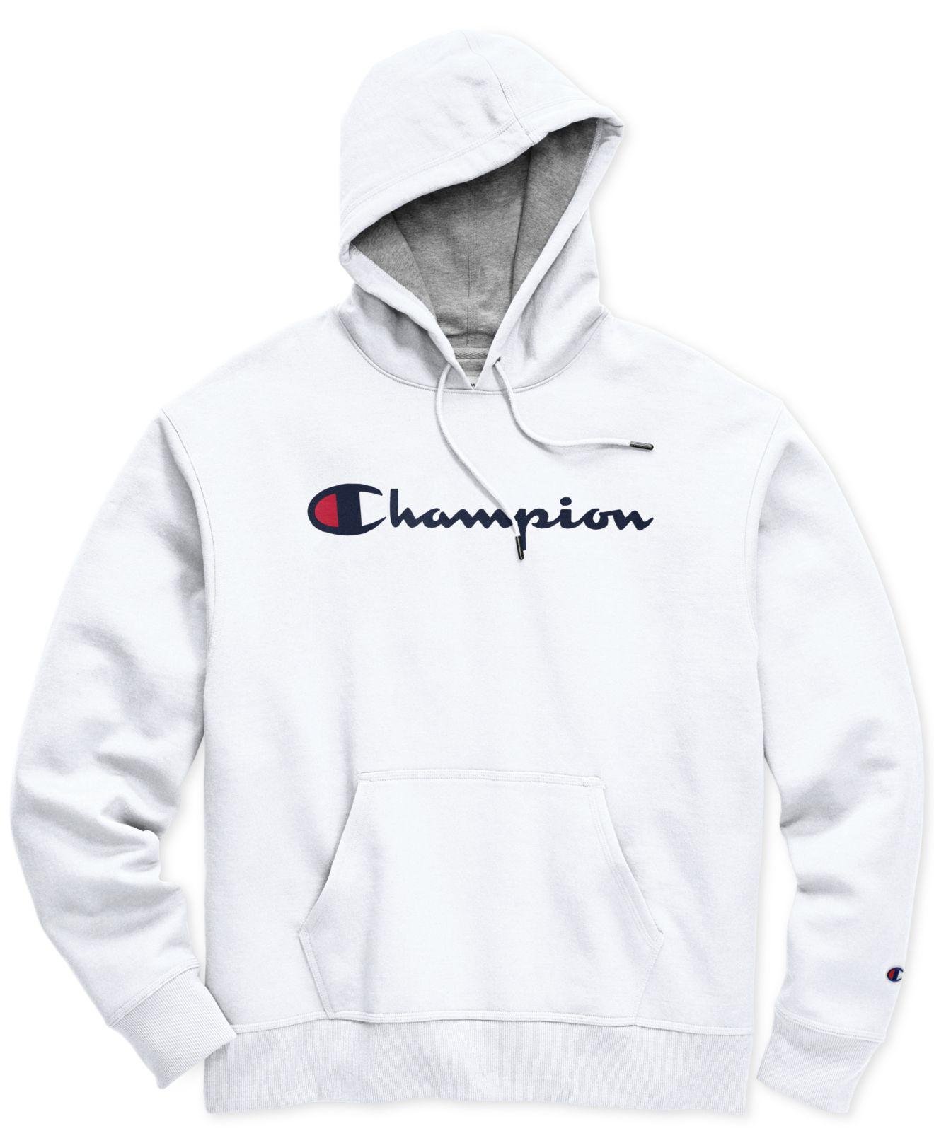 79aa33bd4018 Lyst - Champion White Script Logo Hoodie in White for Men - Save 85%