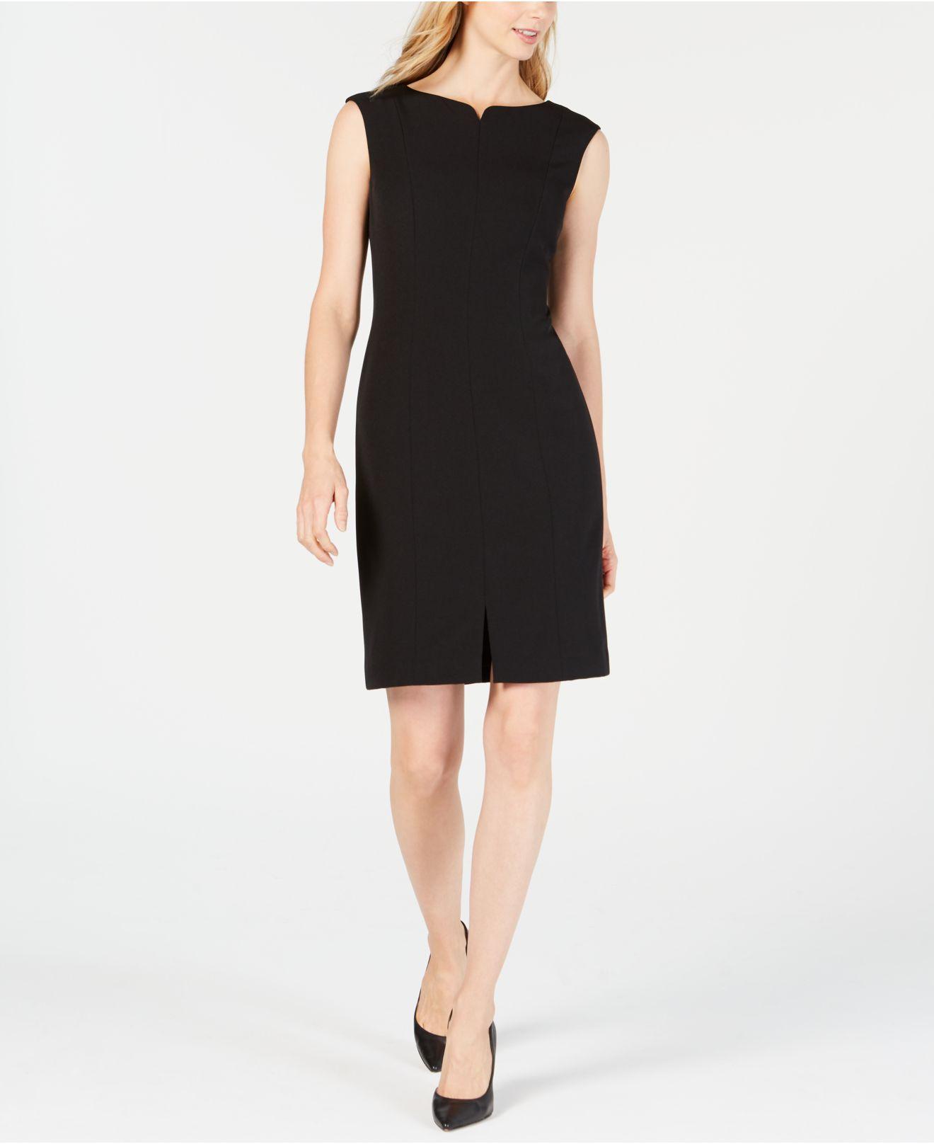 b21c7e0e9aa Lyst - Anne Klein Crepe Sheath Dress in Black