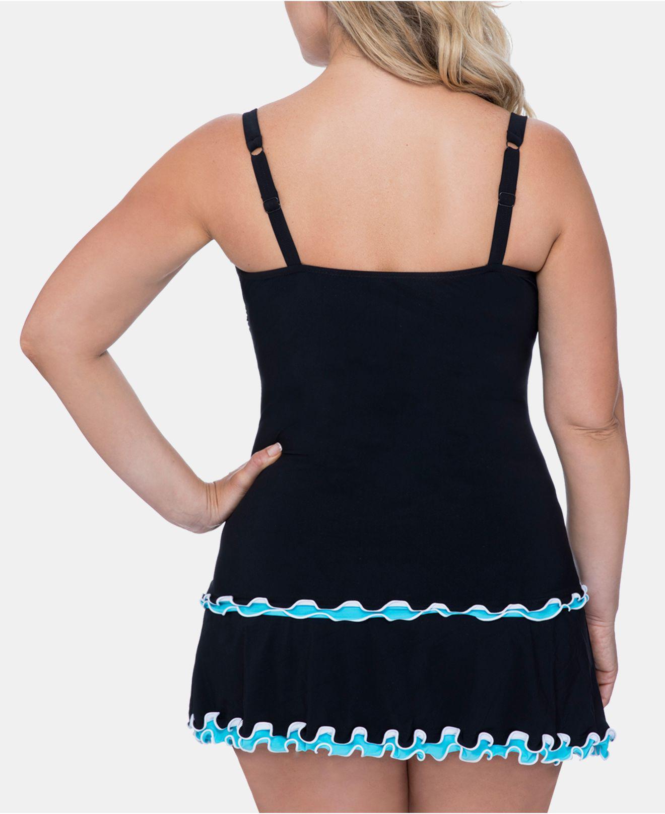 8ff2114a97f Lyst - Gottex Plus Size Tutti Frutti Tankini Top in Black