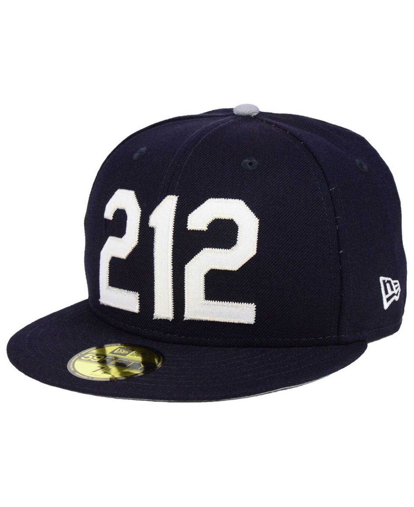 the best attitude 39c03 a3fab KTZ New York Yankees Area Code 59fifty Fitted Cap in Blue for Men - Lyst