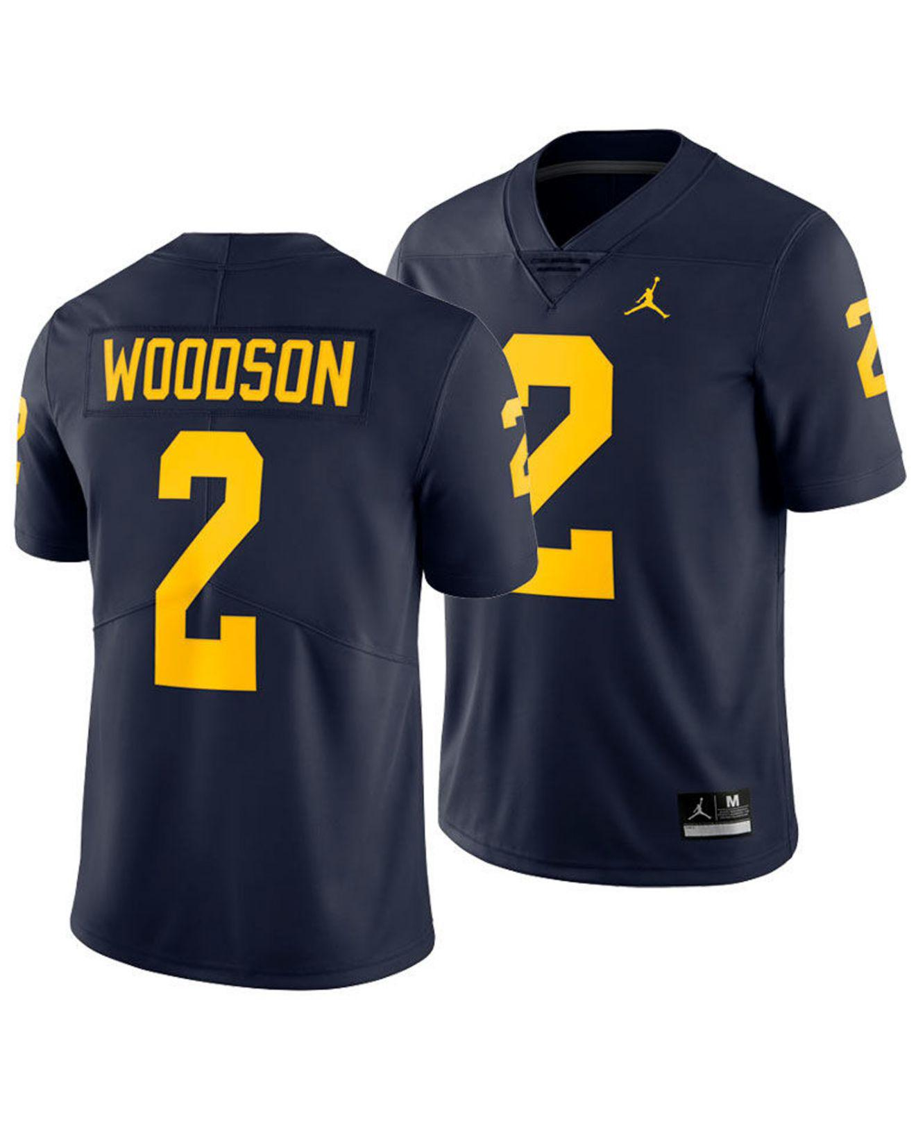 24bd77bce Nike. Men's Blue Charles Woodson Michigan Wolverines Limited Football Jersey