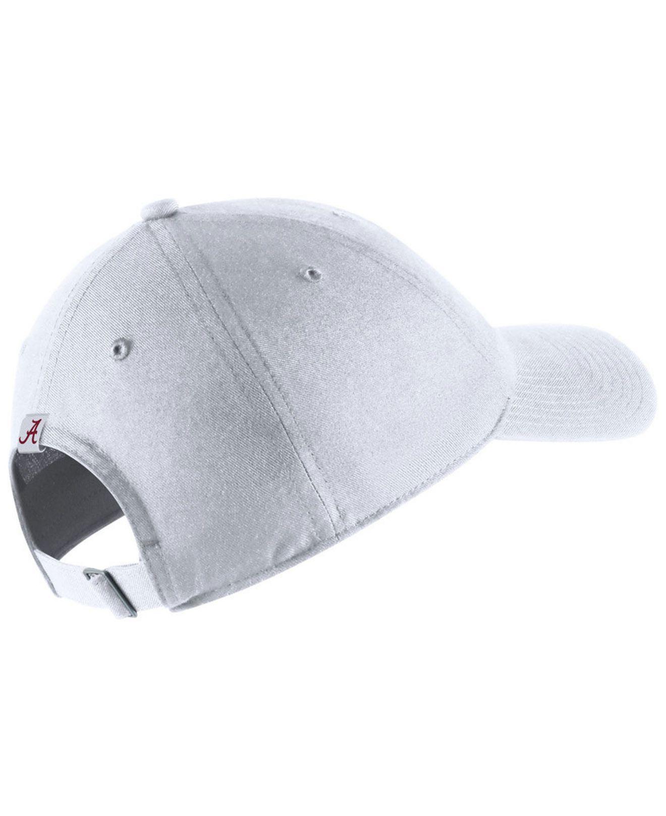 finest selection 86432 4c1d6 Lyst - Nike Alabama Crimson Tide H86 Wordmark Swoosh Cap in White for Men