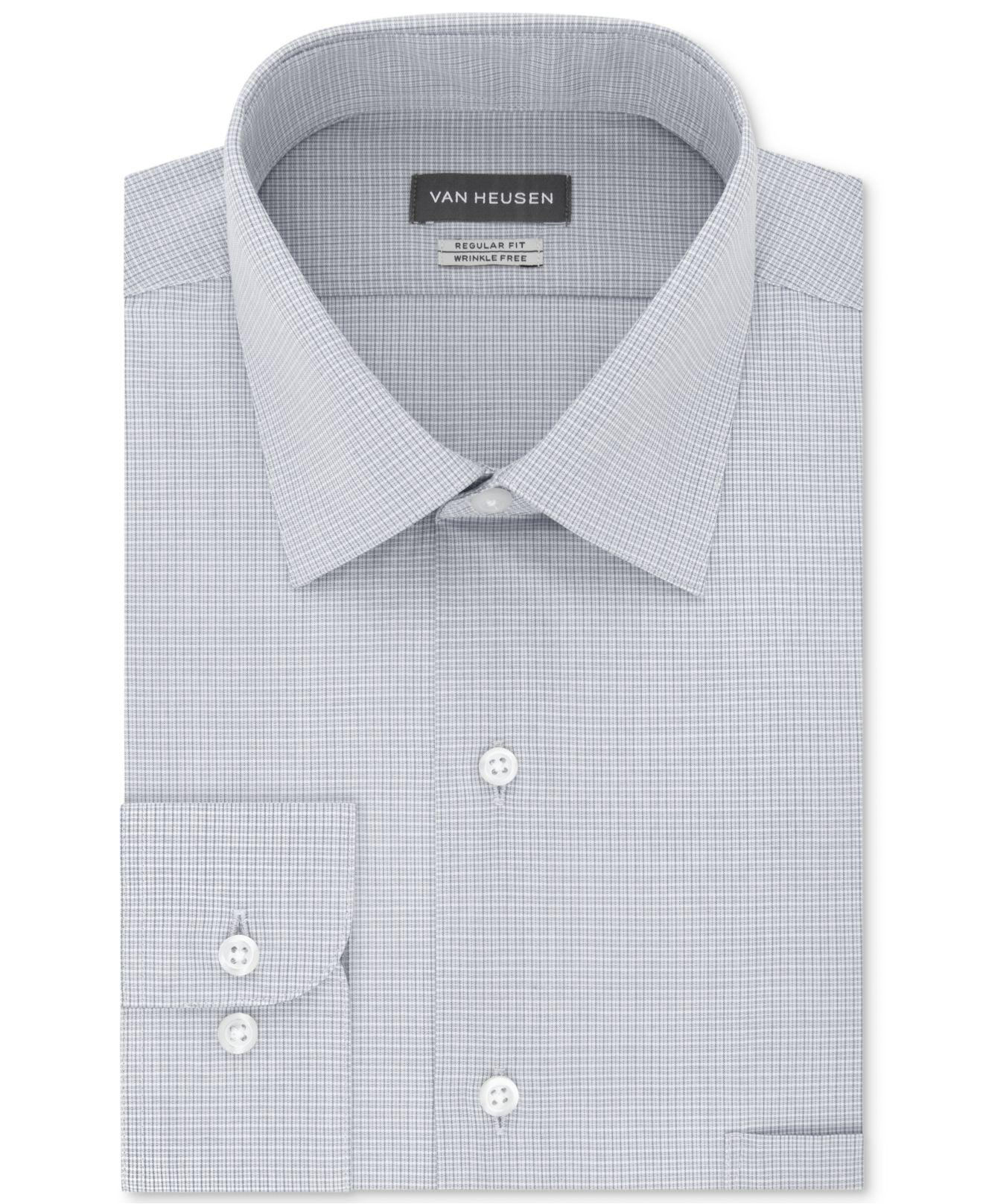9f99711b56c Van Heusen - Blue Classic regular Fit Wrinkle Free Solid Micro-check Dress  Shirt. View fullscreen
