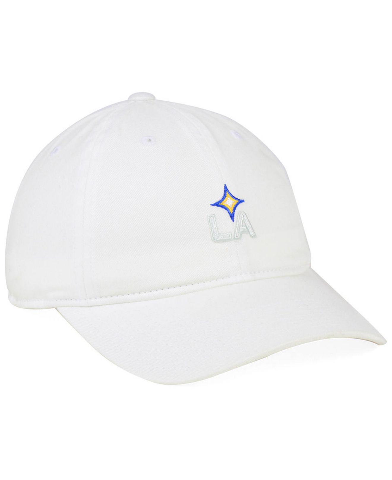 low priced a853f d6dc0 ... where to buy adidas white la galaxy partial logo dad cap for men lyst.  view