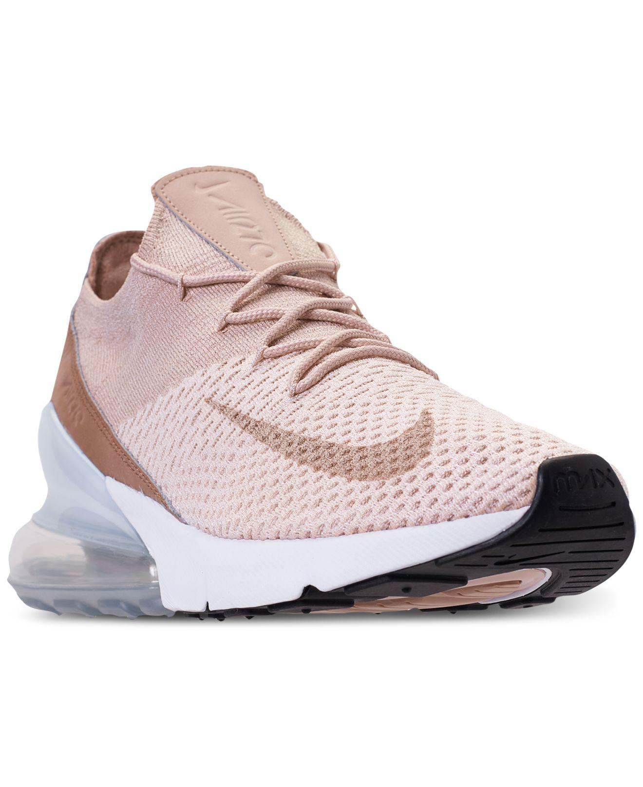 3058797e4 Nike Wmns Air Max 270 Flyknit Guava Ice/ Particle Beige in Pink - Lyst