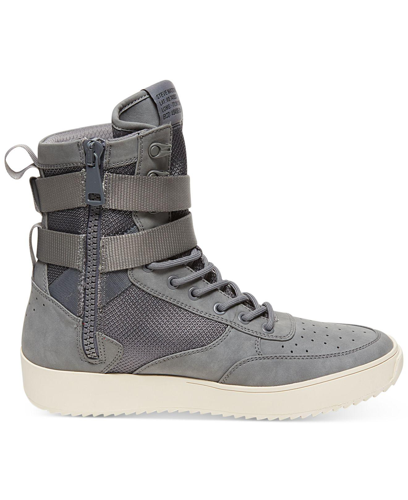 1a0b0439db0 Lyst - Steve Madden Men s Zeroday High-top Sneakers in Gray for Men