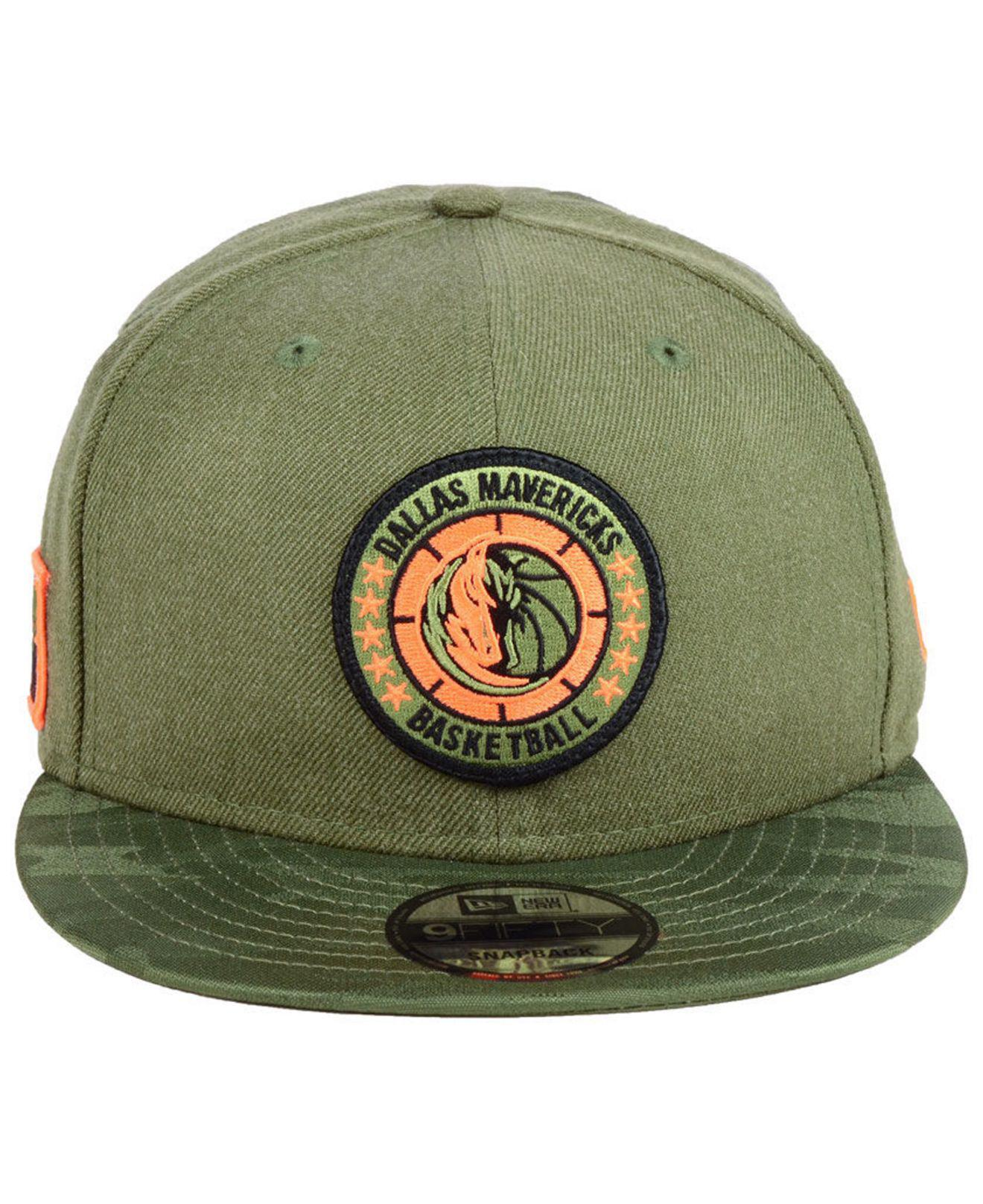 buy online 707c3 8e053 ... italy lyst ktz dallas mavericks tip off 9fifty snapback cap in green  for men 642c6 30d6c