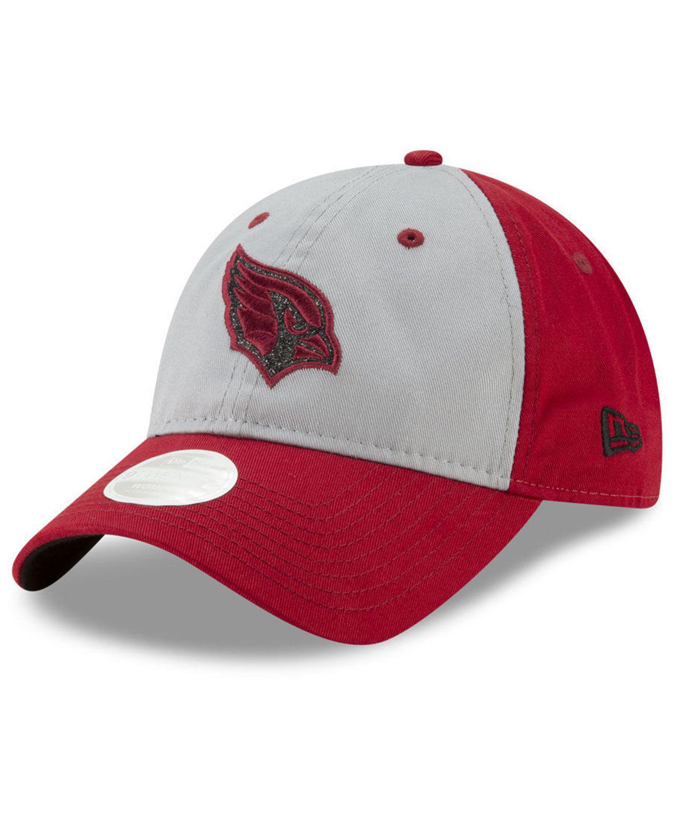 finest selection d60b6 c664f ... free shipping ktz. womens red arizona cardinals gray glitter 9twenty cap  4e69c 27829